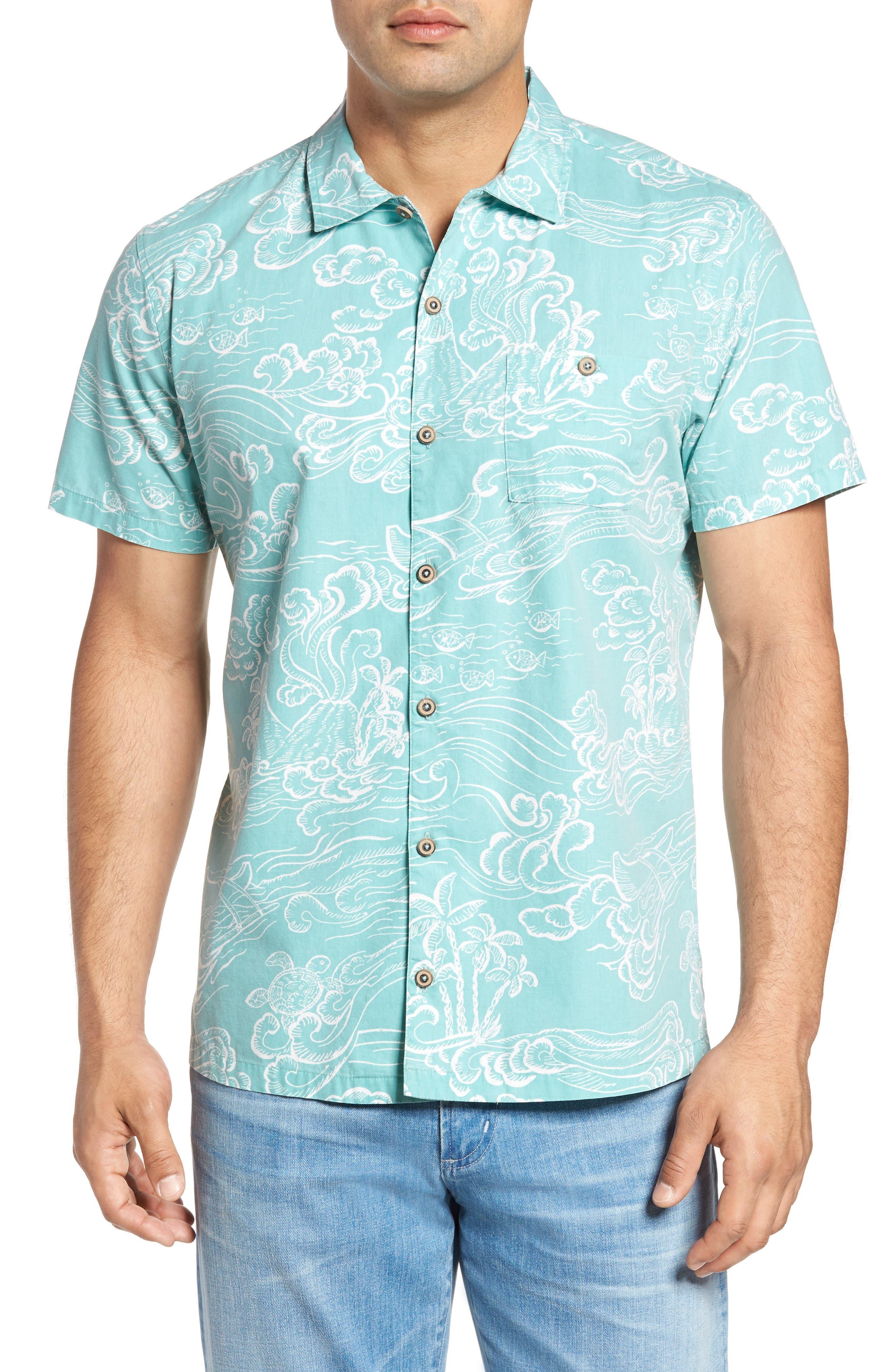 Pele Classic Fit Print Camp Shirt,                         Main,                         color, 439