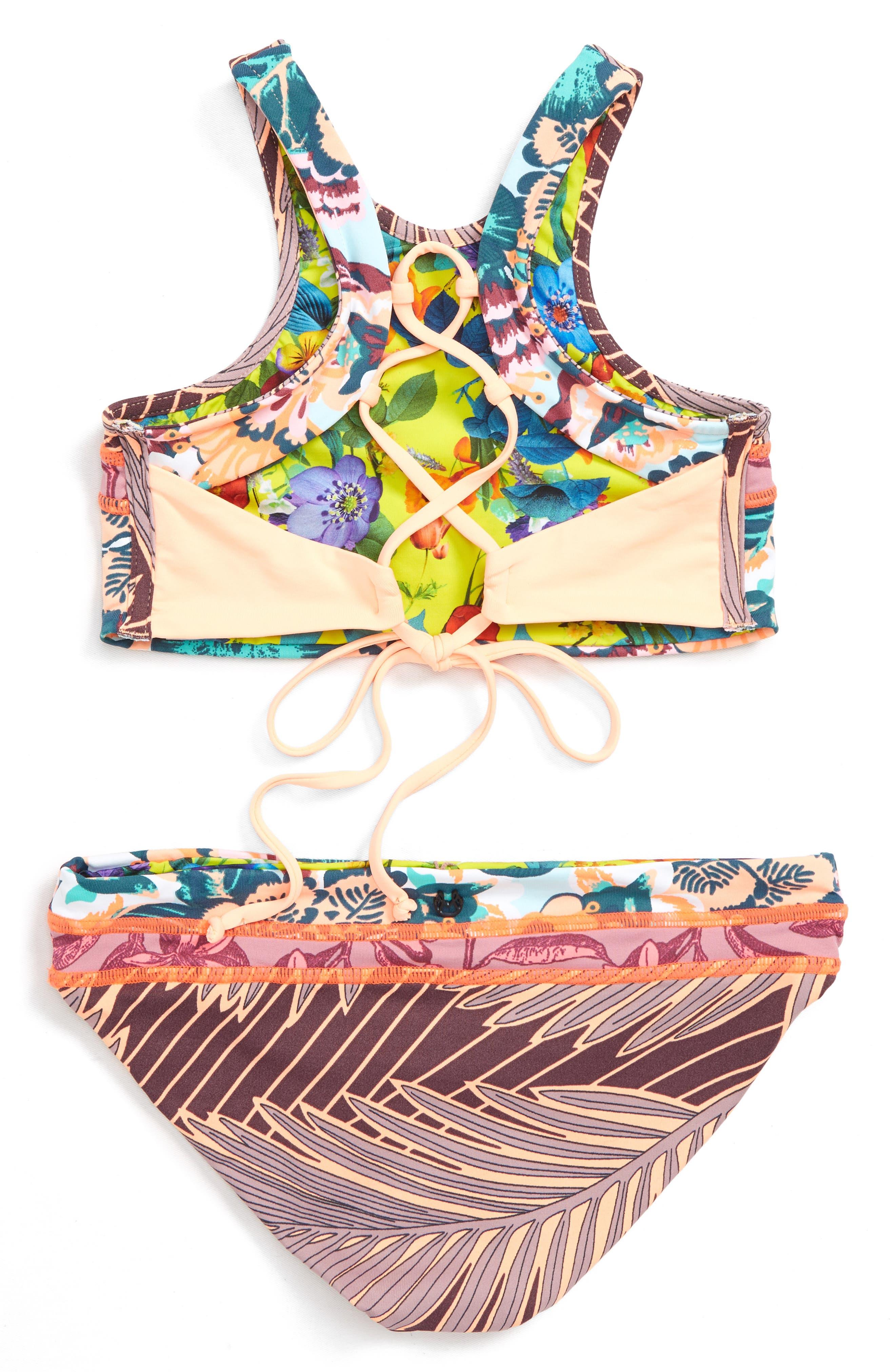 Dusty Storm Reversible Two-Piece Swimsuit,                             Alternate thumbnail 3, color,                             650