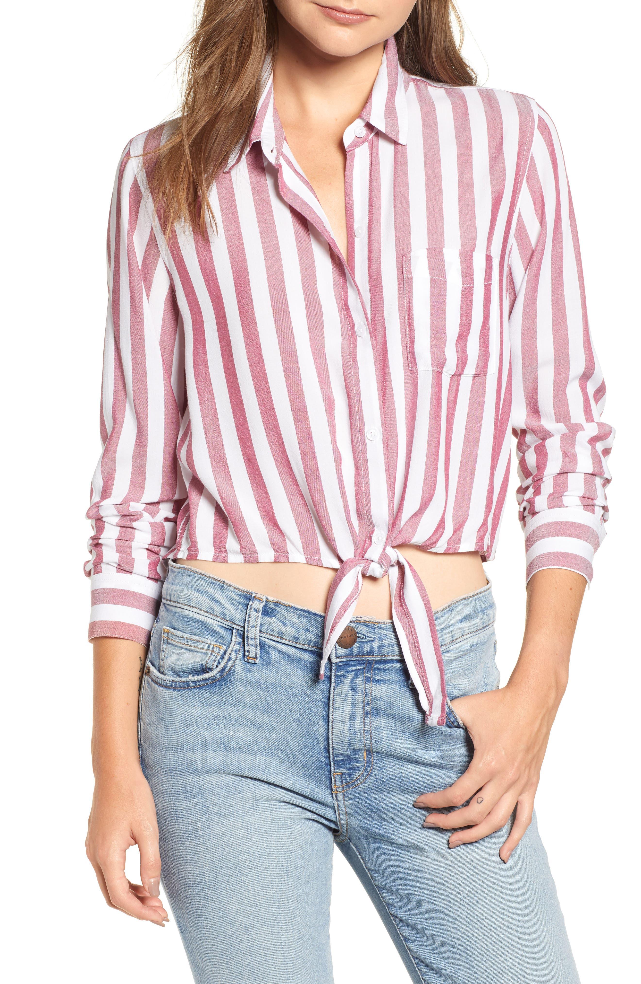 Val Tie Front Shirt,                         Main,                         color, DALI STRIPE