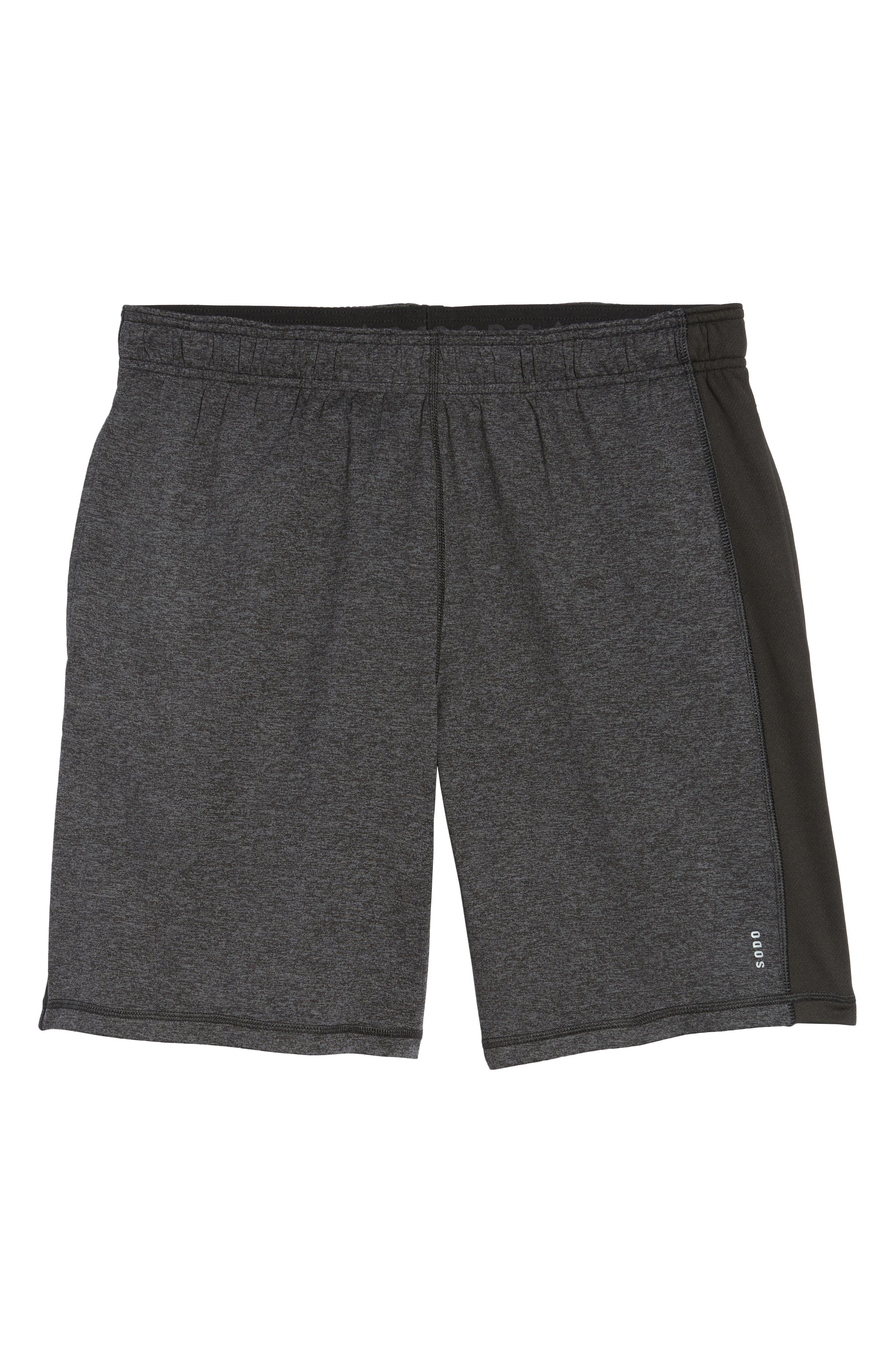 'Go To' Moisture Wicking Stretch Shorts,                             Alternate thumbnail 6, color,                             HEATHER CHARCOAL/ BLACK