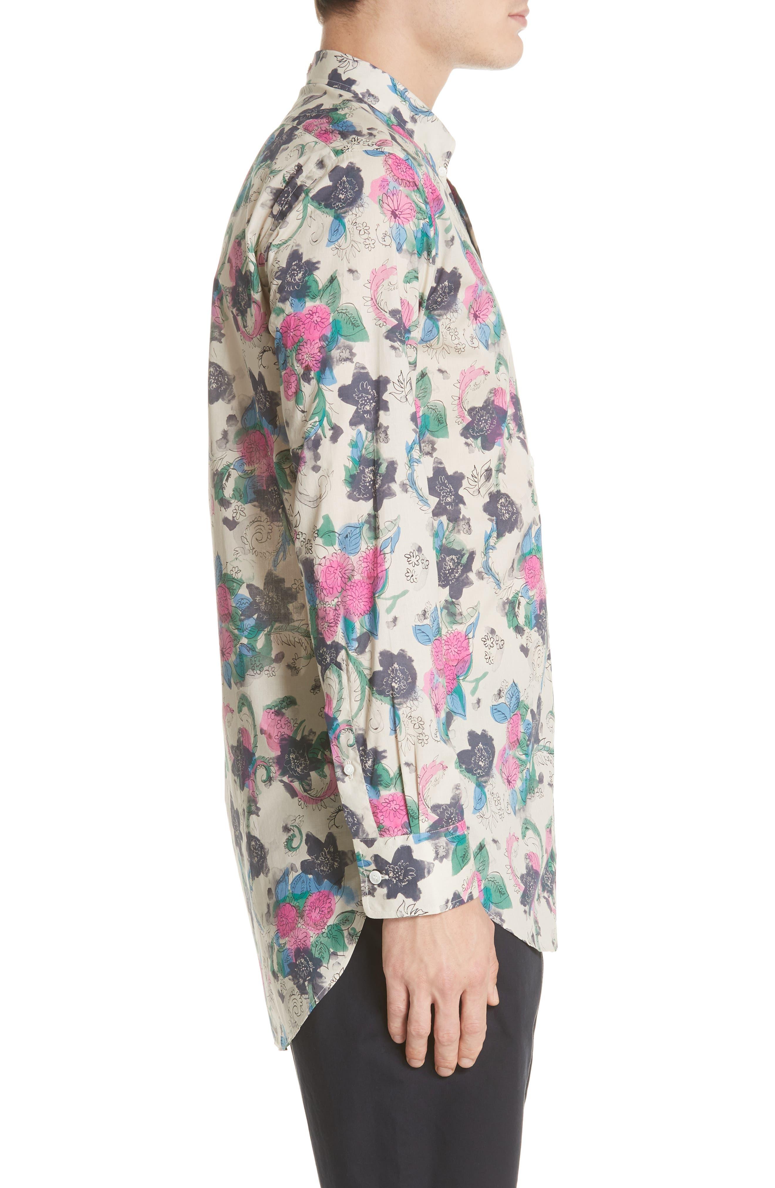 Strenton Floral Print Shirt,                             Alternate thumbnail 3, color,                             250
