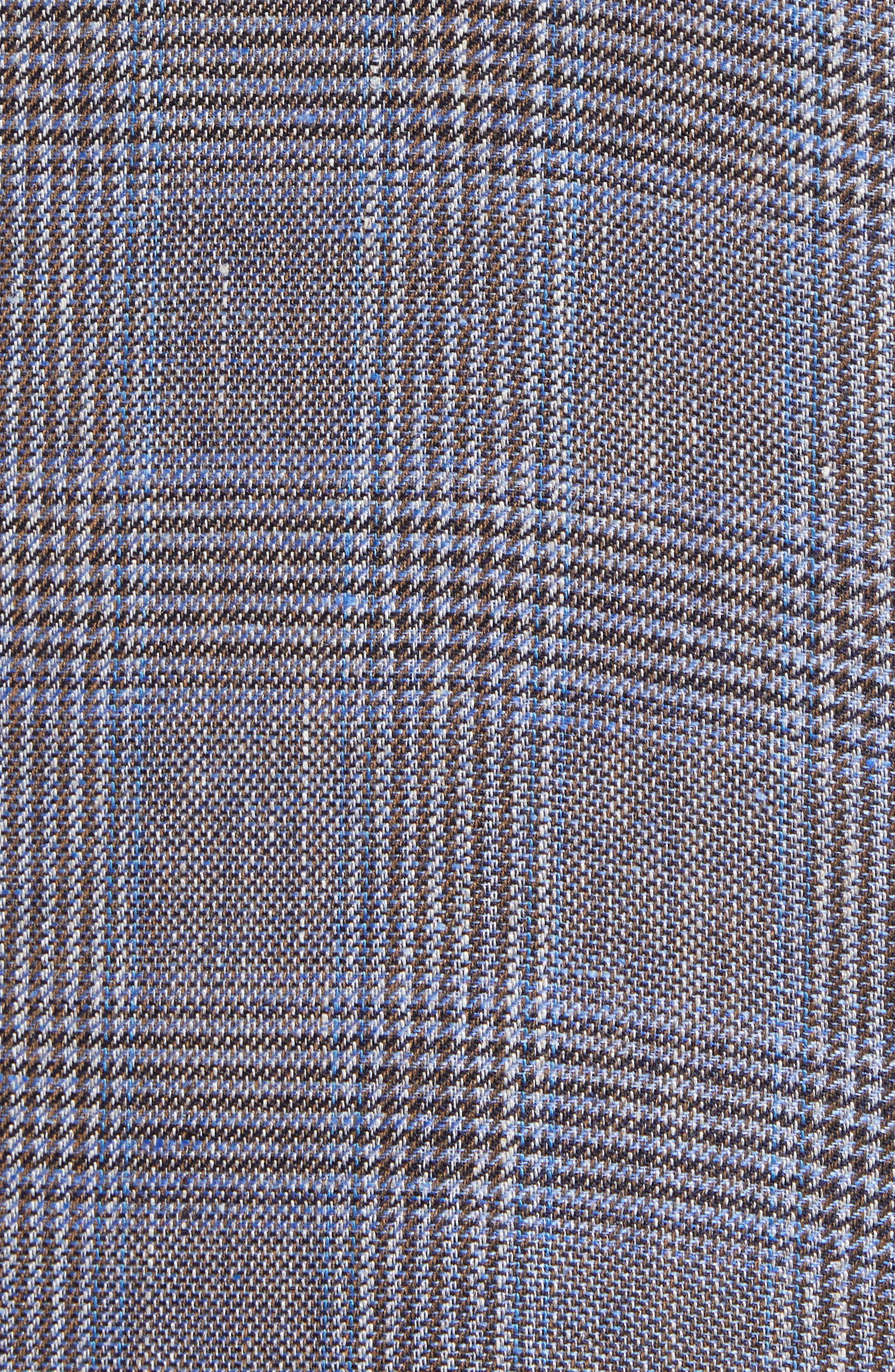 Glenn Trim Fit Plaid Linen Blend Sport Coat,                             Alternate thumbnail 6, color,                             200