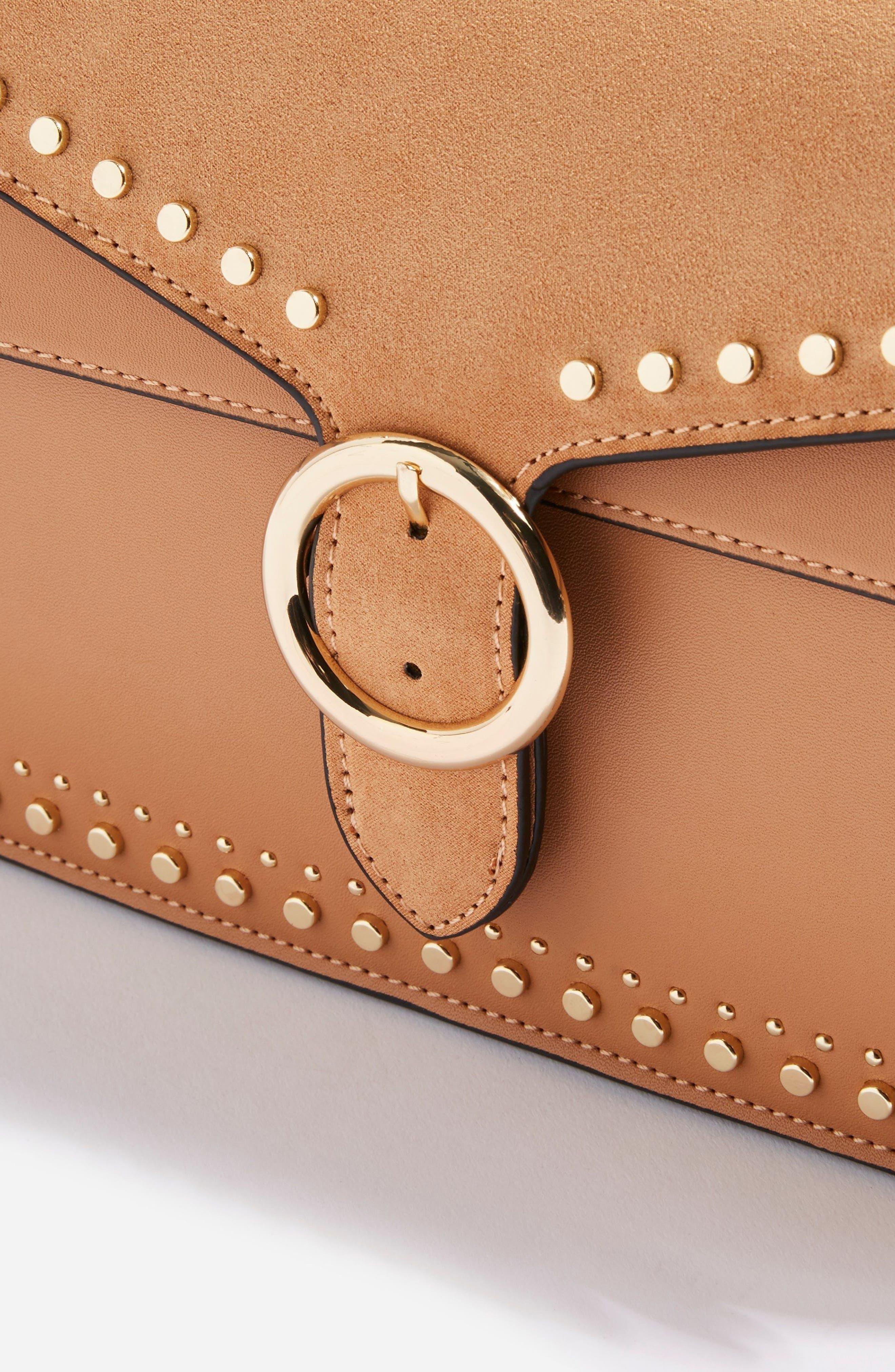 Peony Studded Shoulder Bag,                             Alternate thumbnail 10, color,