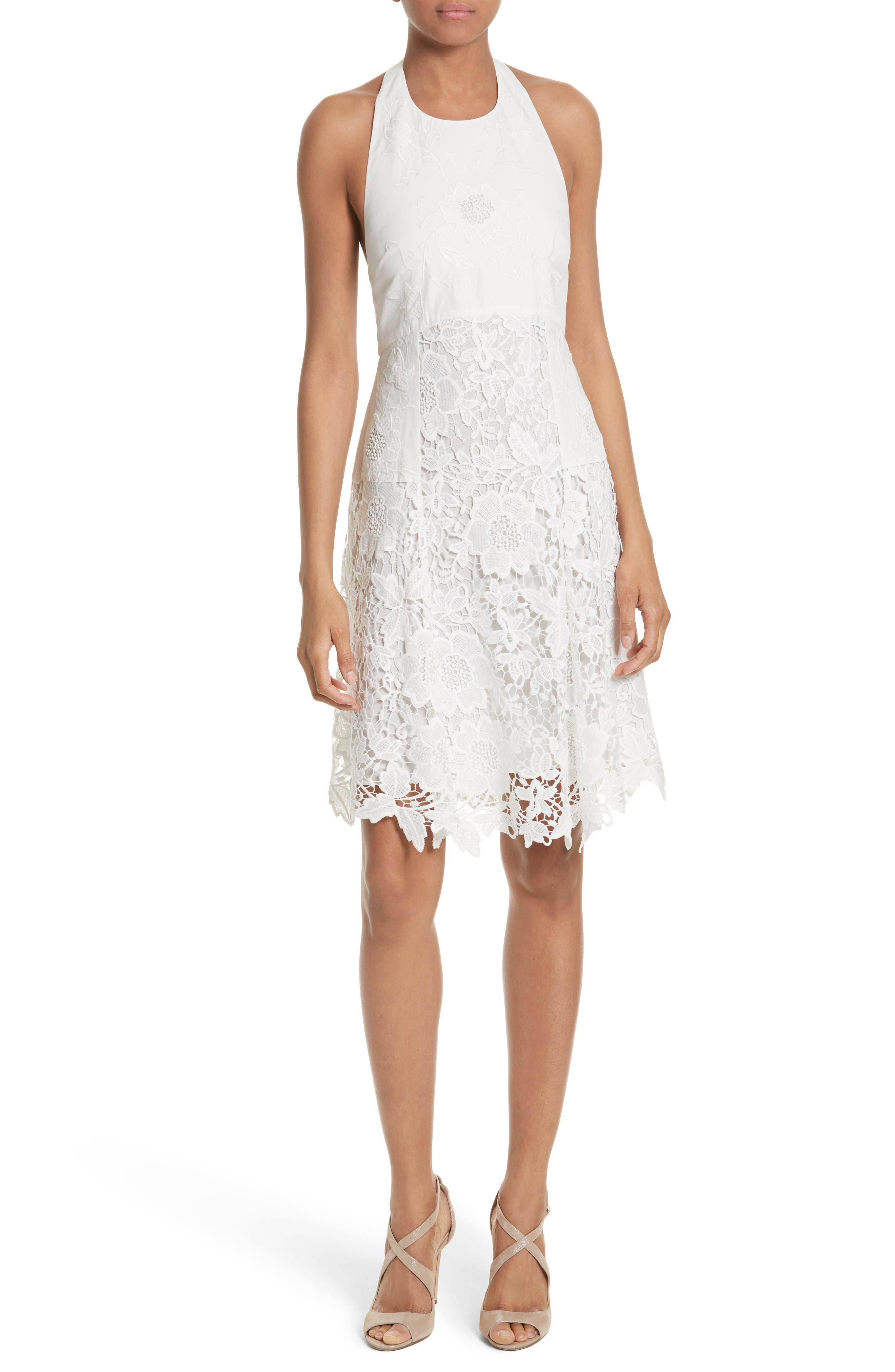 Susan Lace Halter Dress,                         Main,                         color,