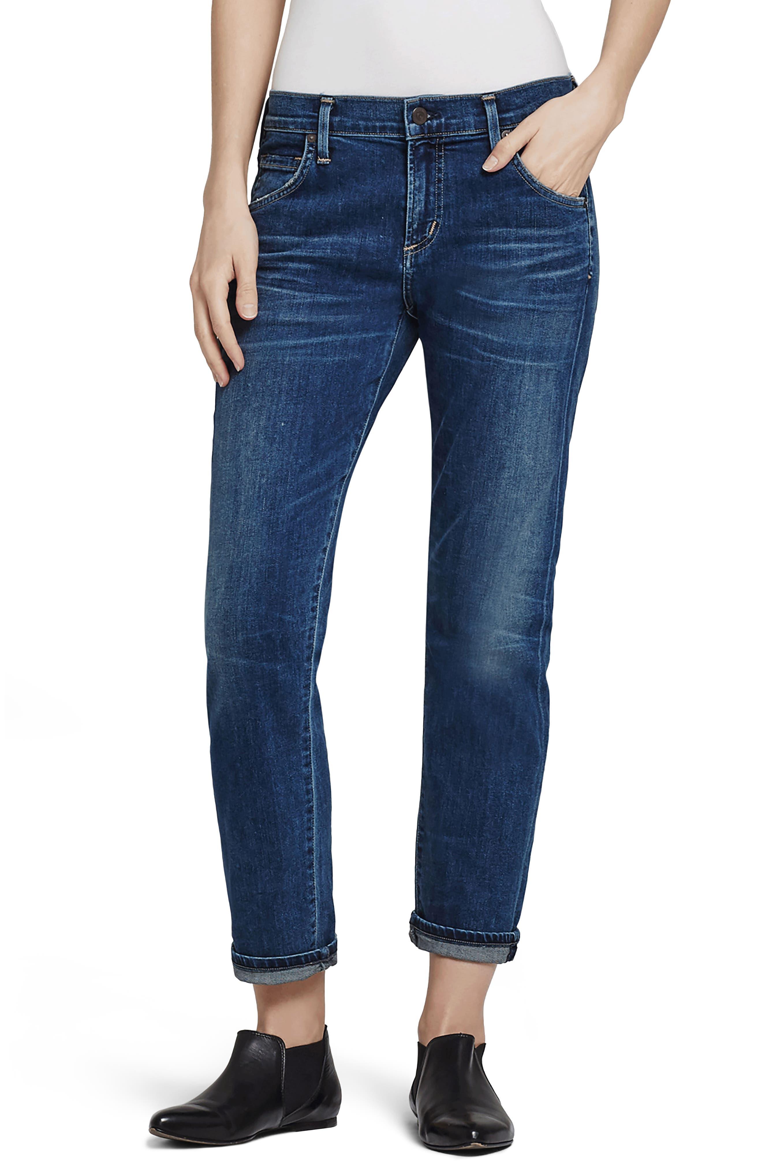 Emerson Slim Boyfriend Jeans,                         Main,                         color, 462