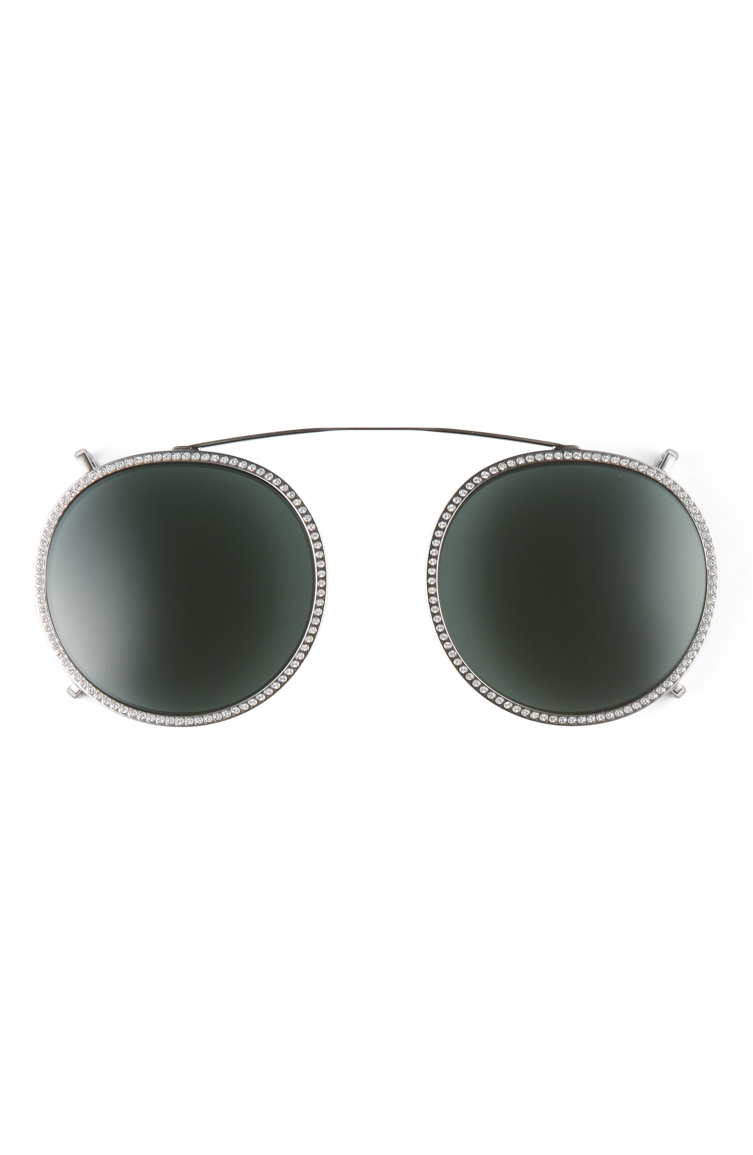 47mm Round Sunglasses,                             Alternate thumbnail 8, color,