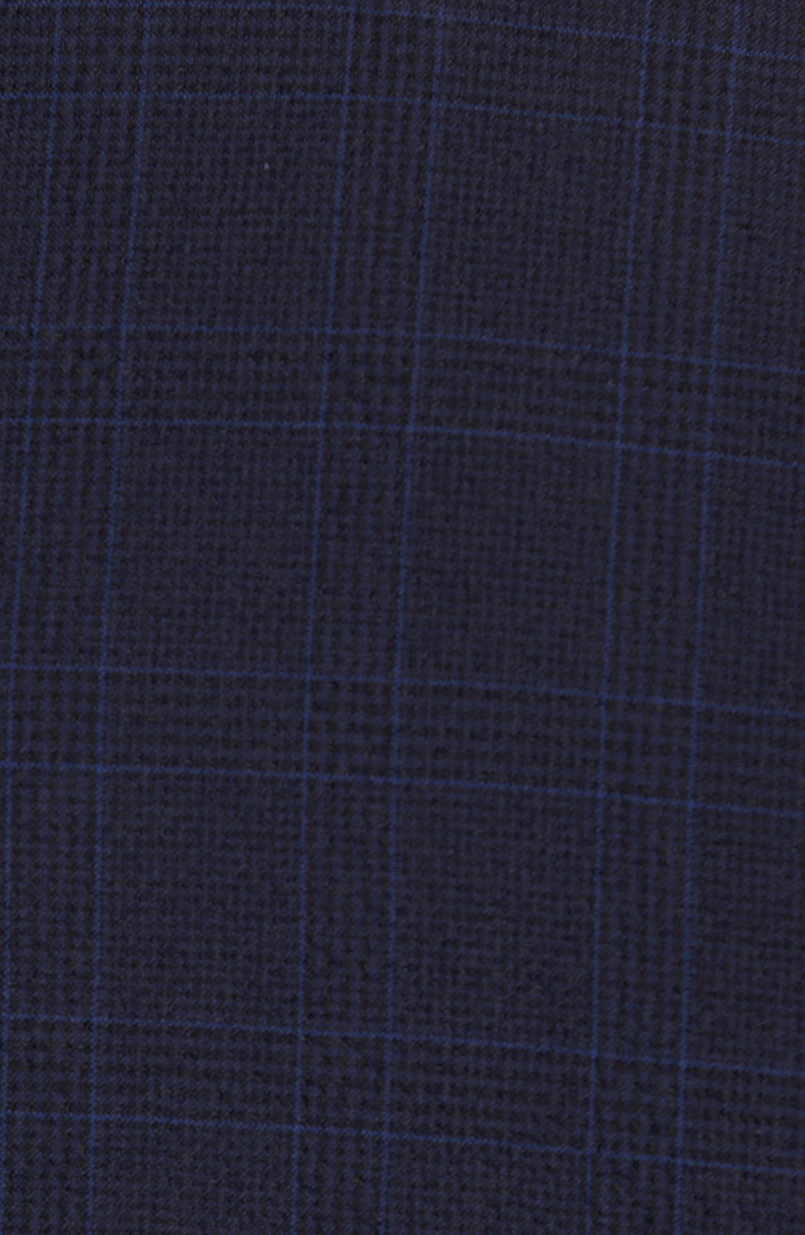 Helford/Gander Trim Fit Plaid Wool & Cotton Suit,                             Alternate thumbnail 7, color,