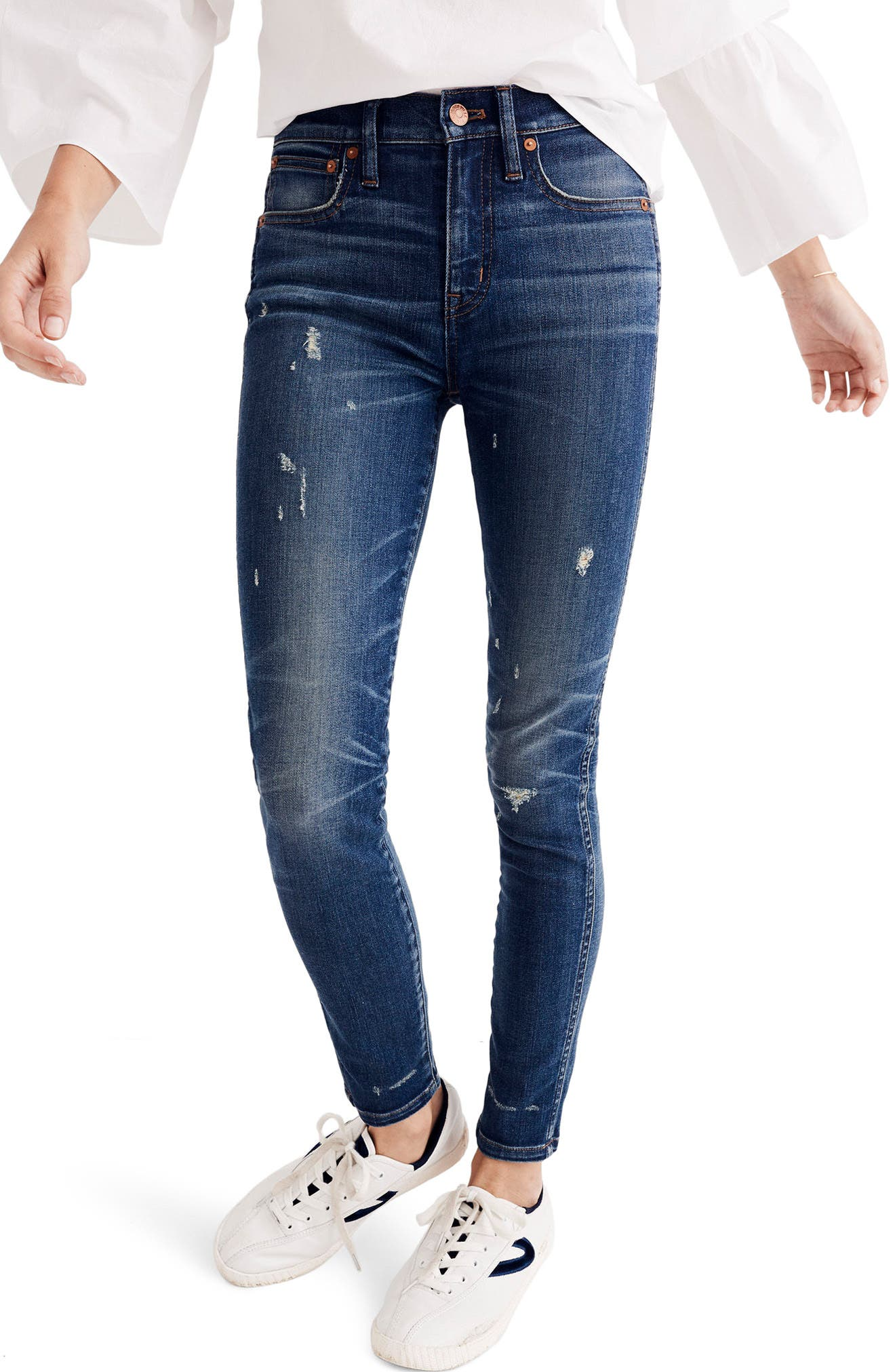 9-Inch High Waist Skinny Jeans,                             Main thumbnail 1, color,                             403