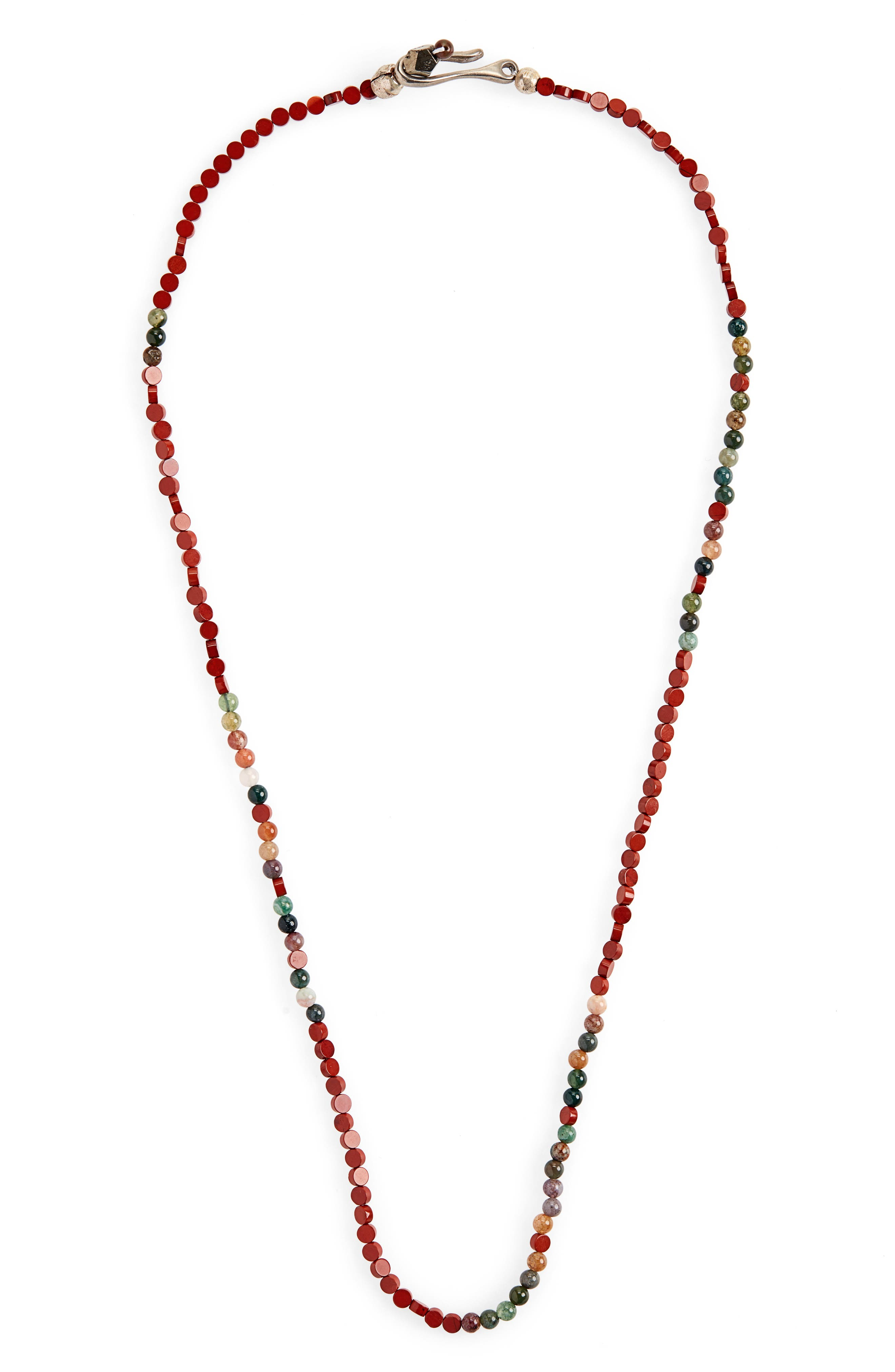 Morse Love Necklace,                         Main,                         color, RED