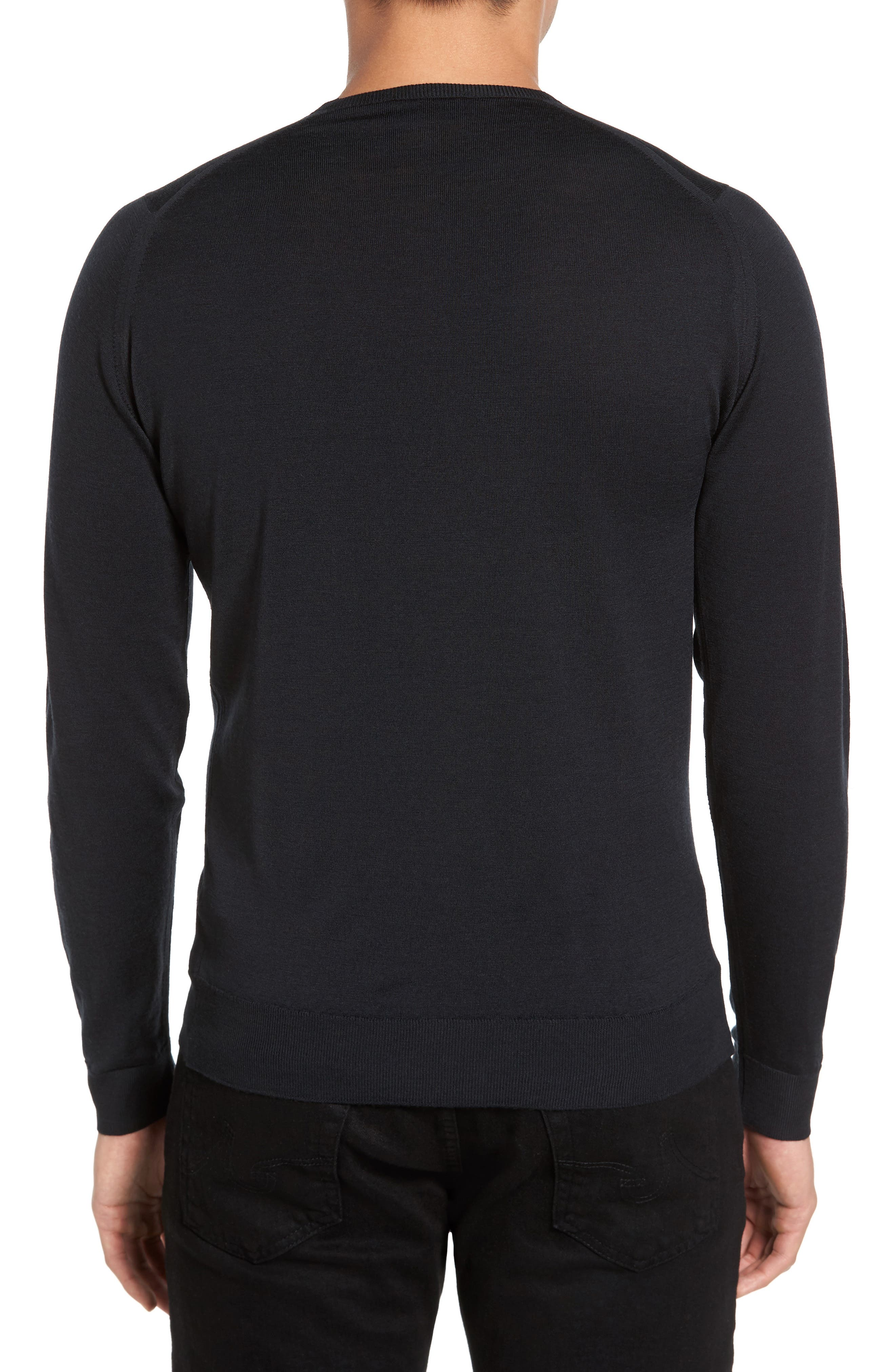 Merino Wool Sweater,                             Alternate thumbnail 2, color,                             001