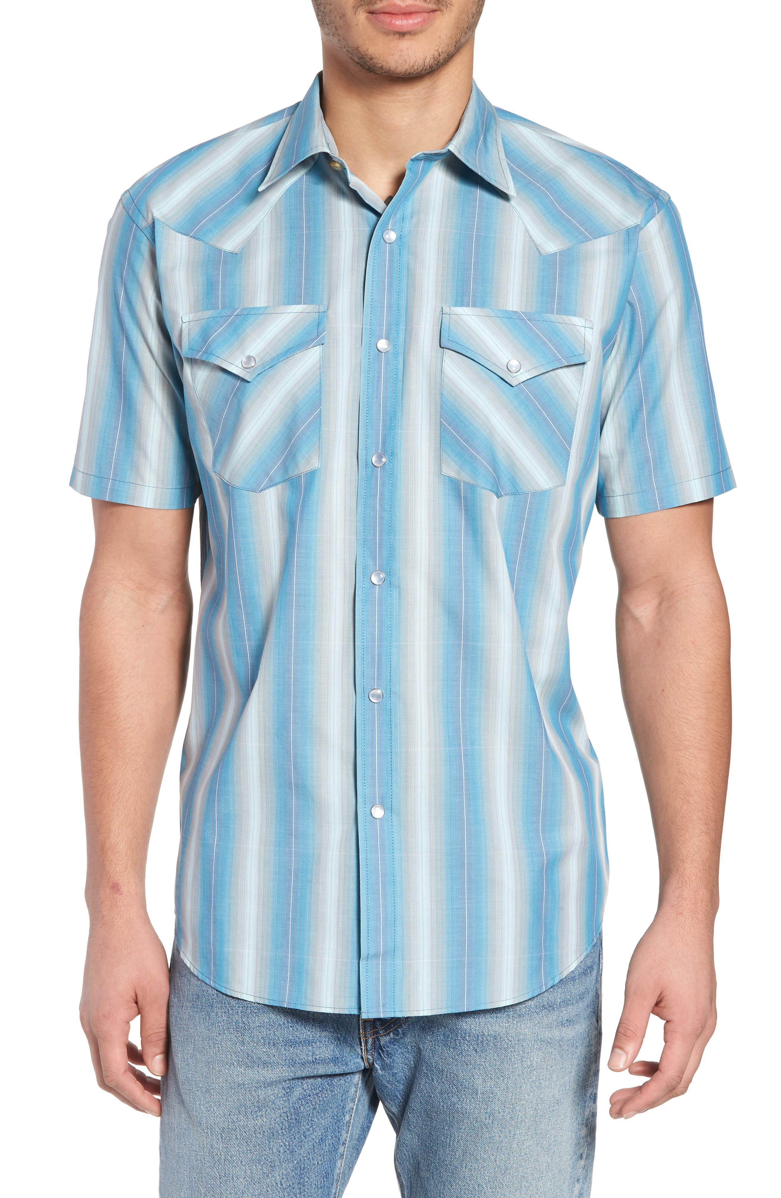 Frontier Regular Fit Plaid Short Sleeve Sport Shirt,                             Main thumbnail 2, color,