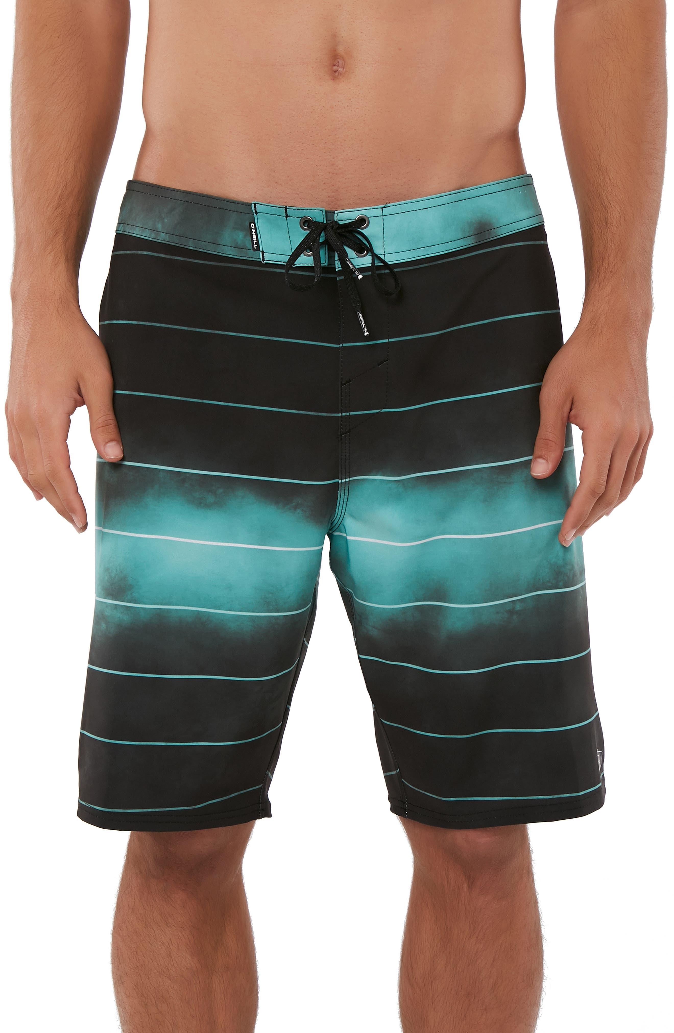 Hyperfreak Smokey Mirrors Board Shorts,                         Main,                         color, BLACK