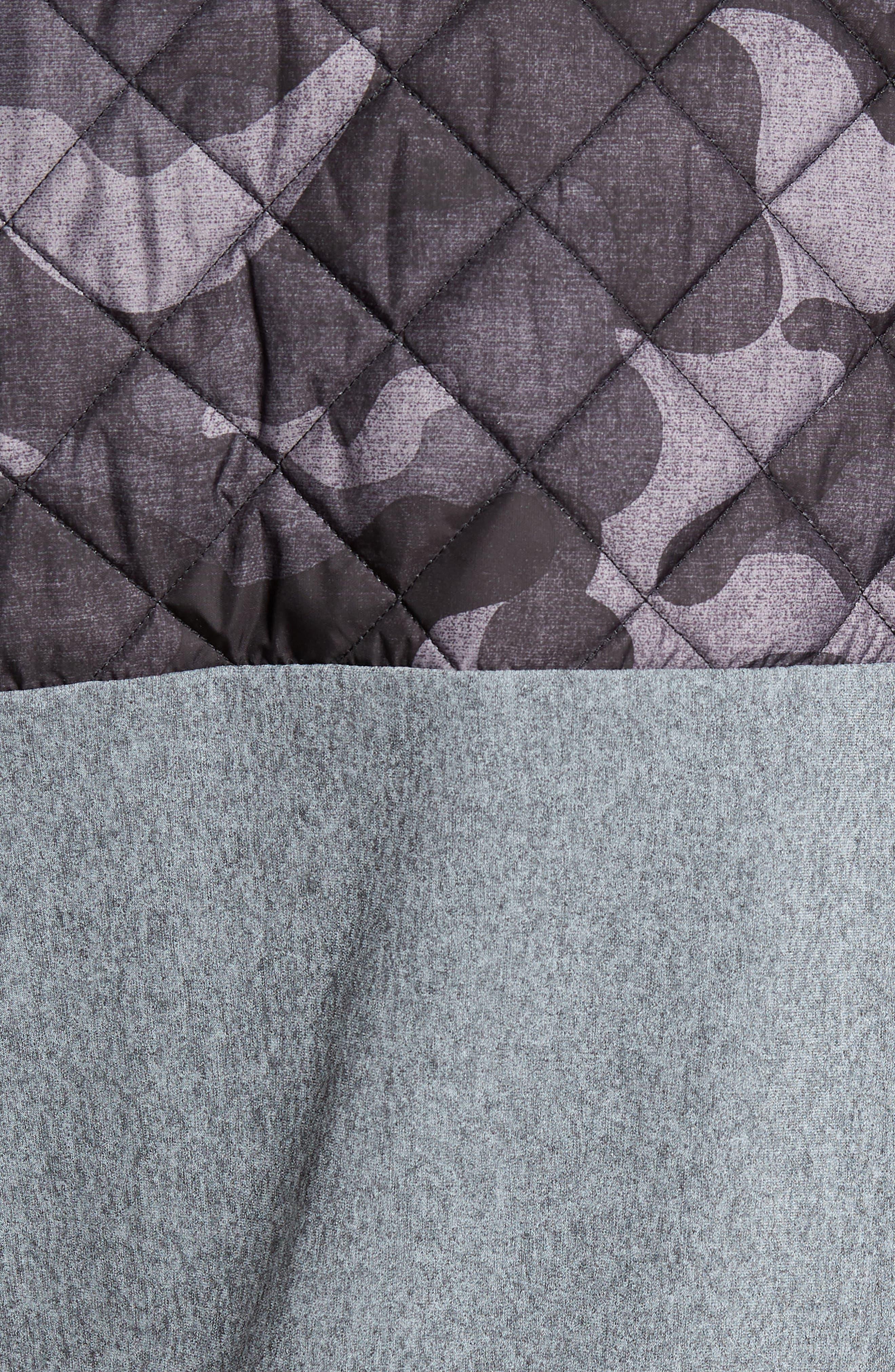 Huron Hybrid Vest,                             Alternate thumbnail 7, color,                             GREY HEATHER/ GREY CAMO
