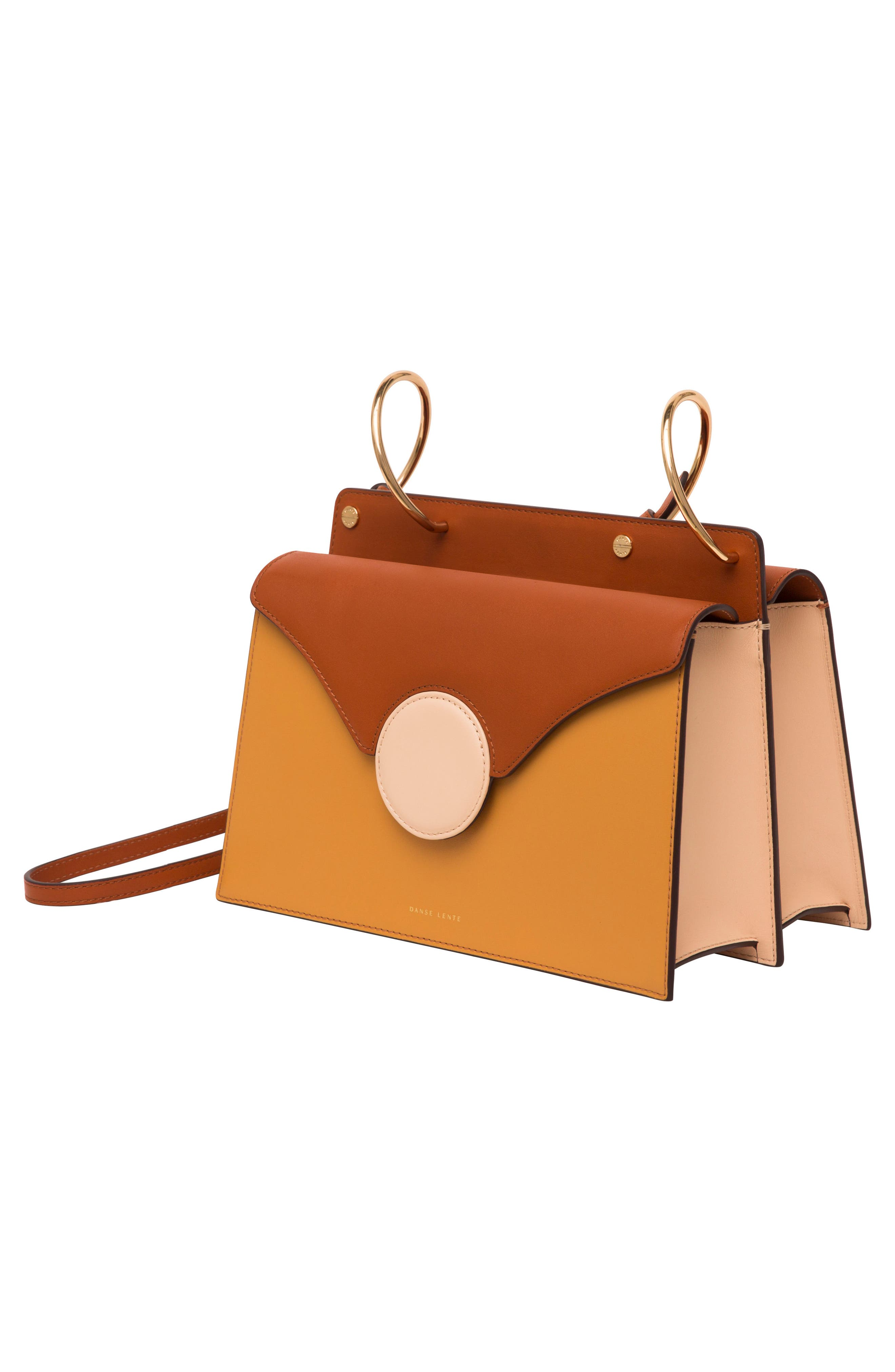 Phoebe Leather Crossbody Bag,                             Alternate thumbnail 6, color,                             SAND/ AMBER