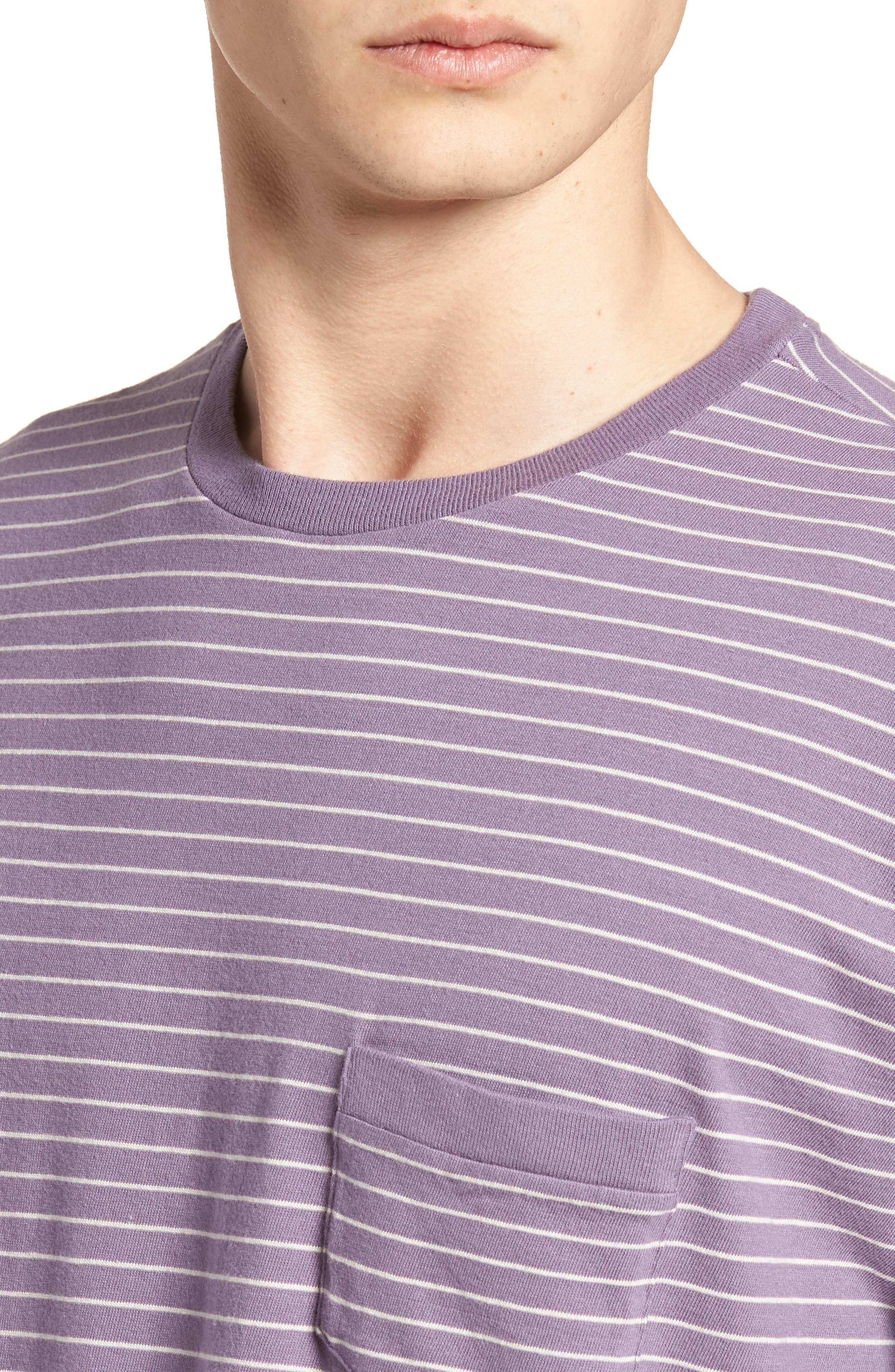 1940s Split Hem T-Shirt,                             Alternate thumbnail 4, color,                             400