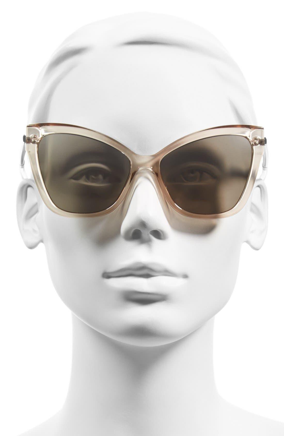 LE SPECS,                             'Naked Eyes' 56mm Cat Eye Sunglasses,                             Alternate thumbnail 2, color,                             020