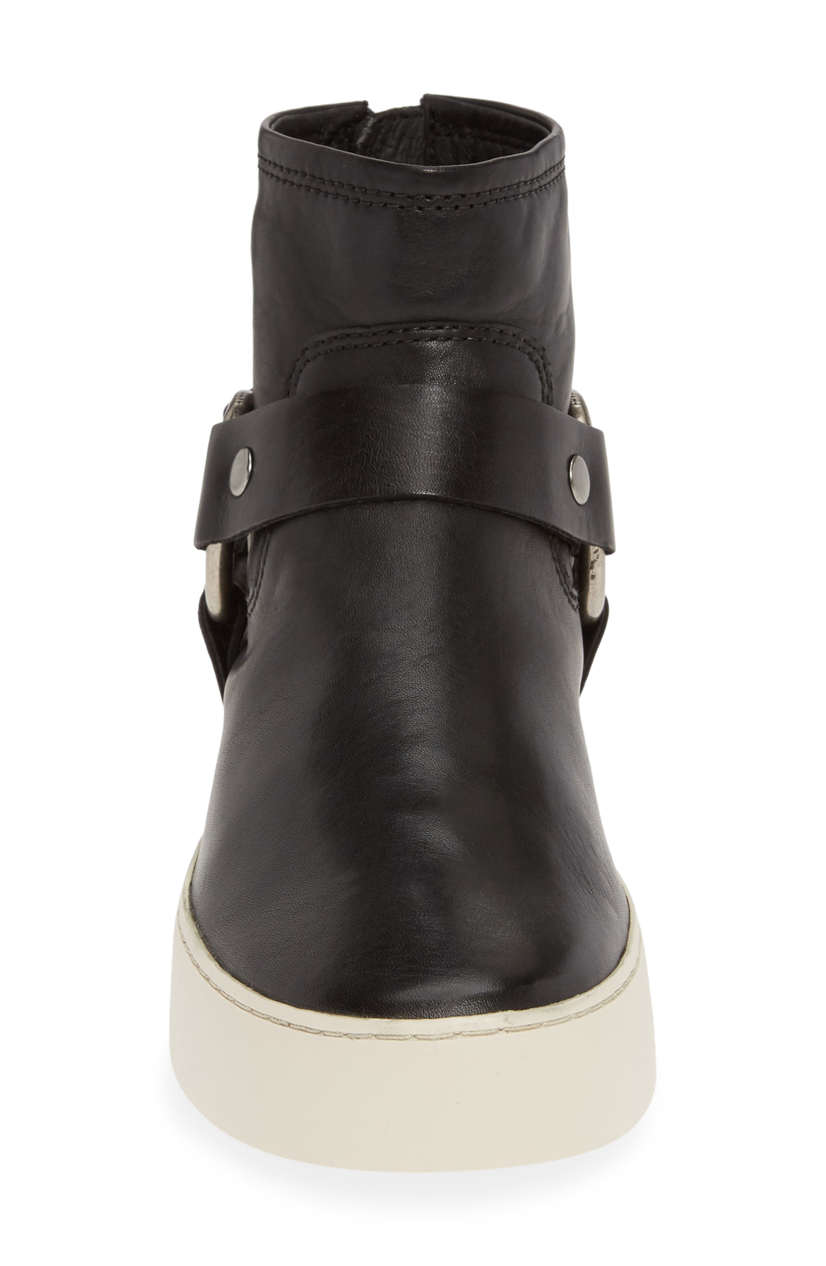 FRYE,                             Lena Harness Bootie,                             Alternate thumbnail 4, color,                             BLACK LEATHER