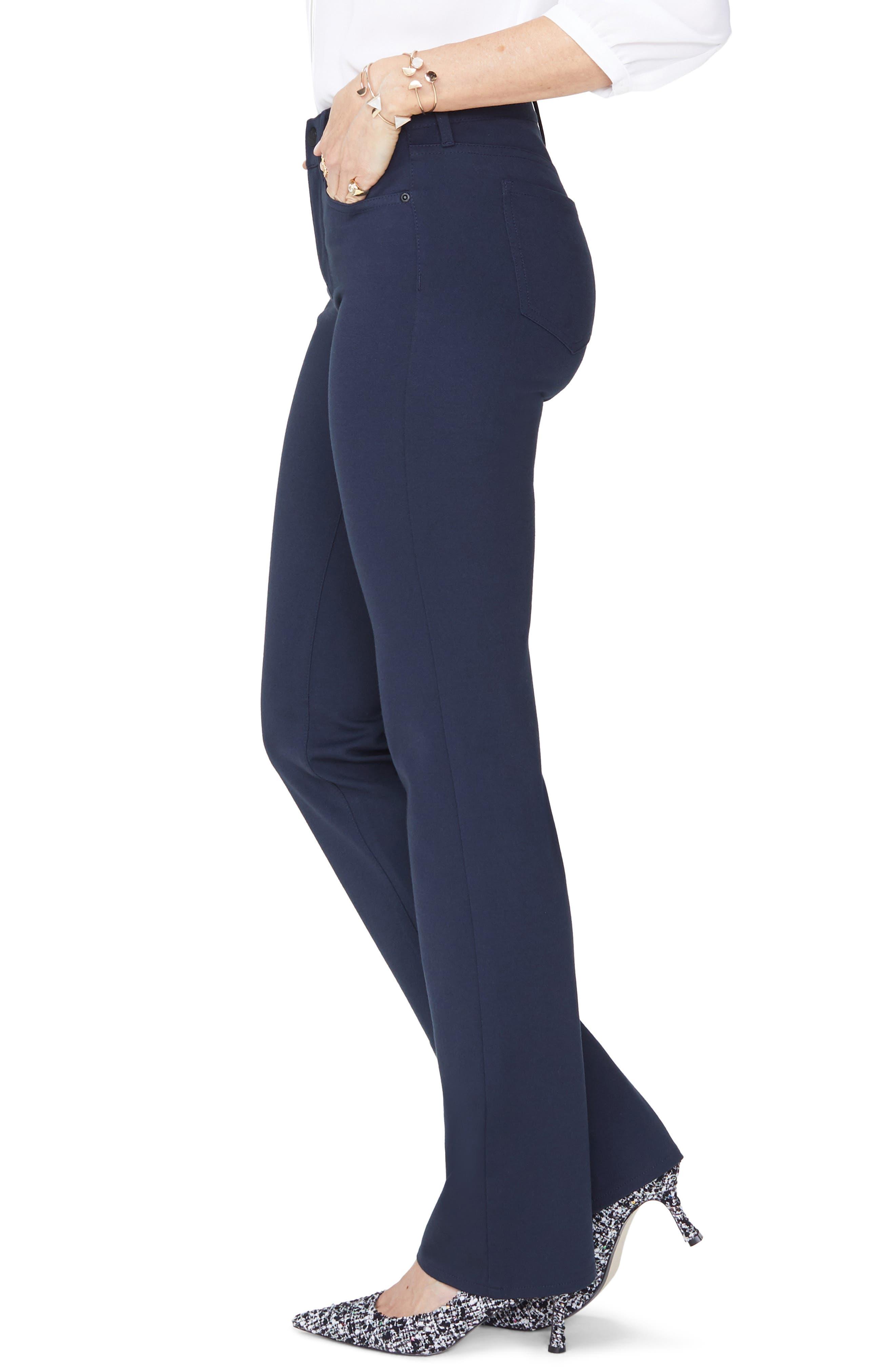 Marilyn Straight Leg Ponte Pants,                             Alternate thumbnail 3, color,                             MIDNIGHT