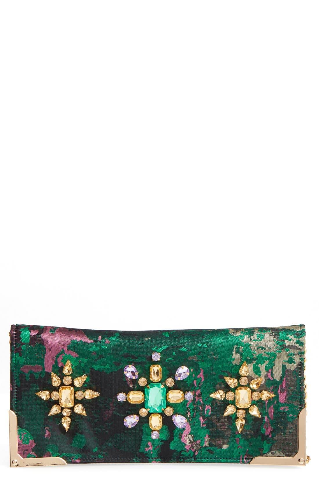 Luisa Embellished Clutch,                         Main,                         color, 300