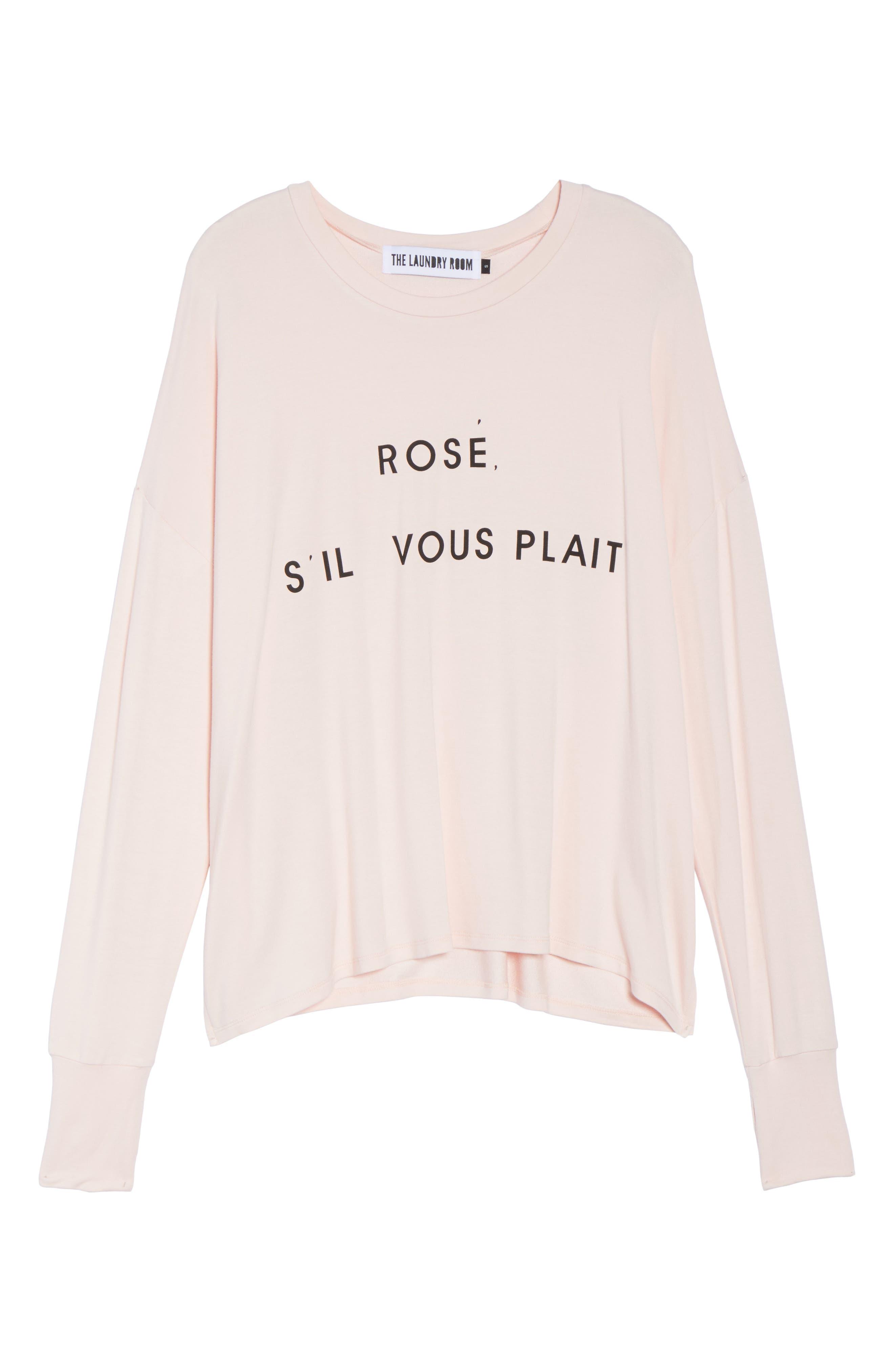 Rosé Please Sweatshirt,                             Alternate thumbnail 6, color,