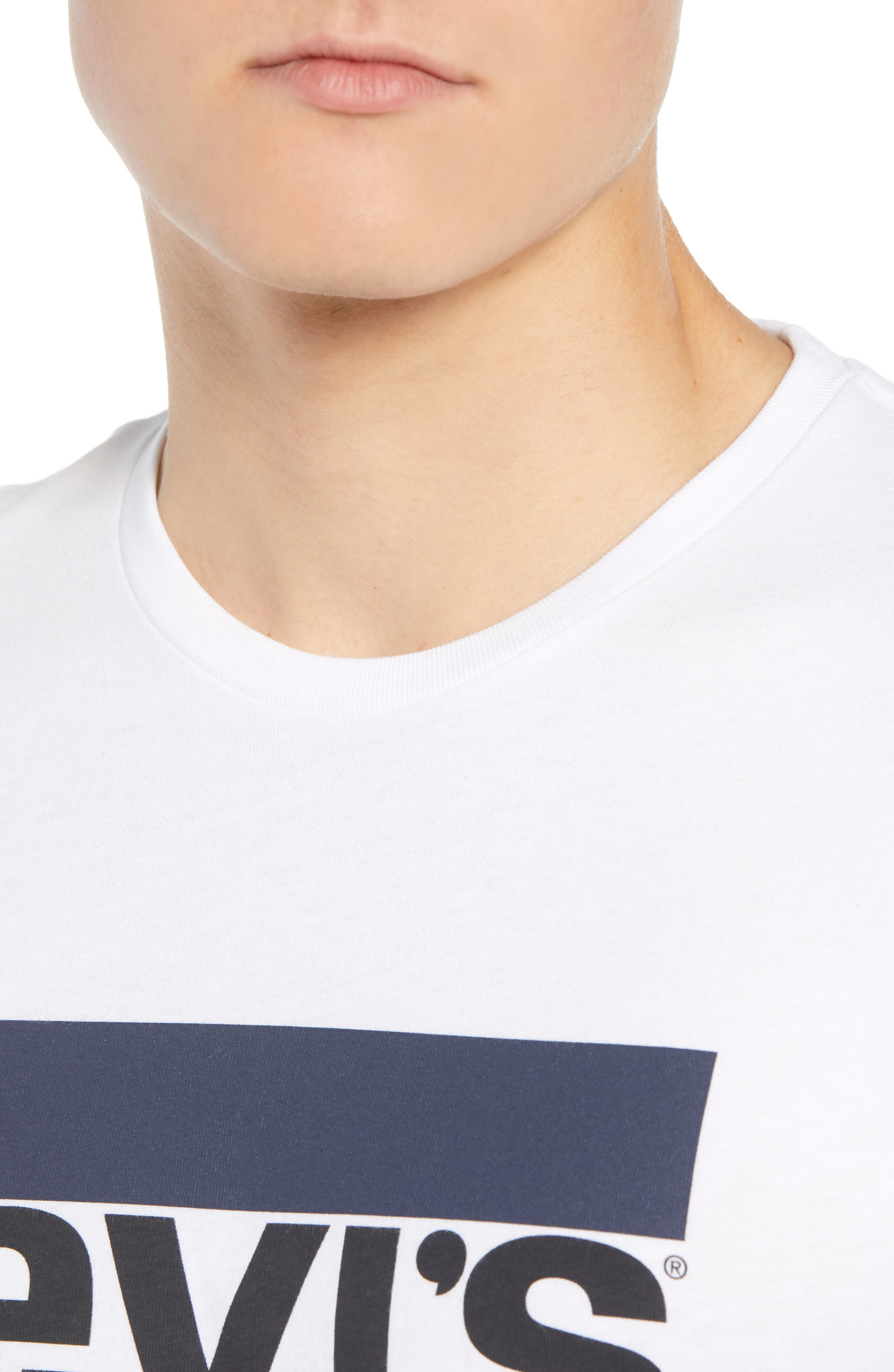LEVI'S<SUP>®</SUP>,                             Logo T-Shirt,                             Alternate thumbnail 4, color,                             SPORTSWEAR LOGO WHITE