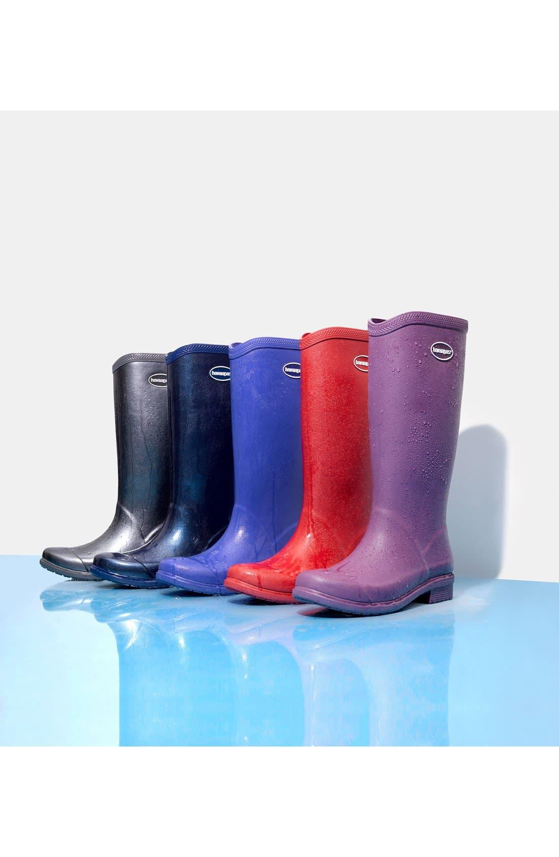 'Galochas Hi Matte' Waterproof Rain Boot,                             Alternate thumbnail 5, color,                             001