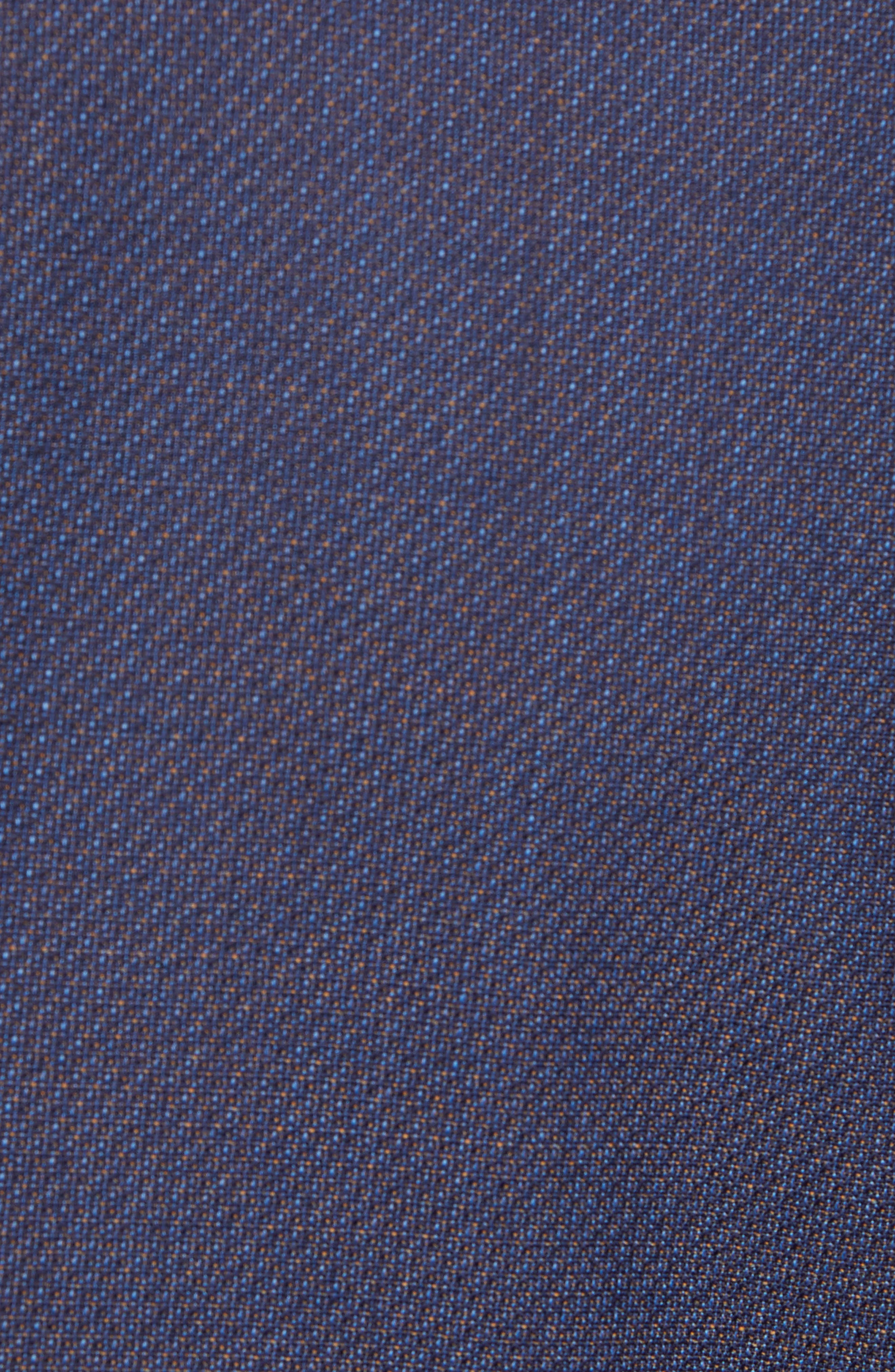 Huge/Genius Trim Fit Solid Wool Suit,                             Alternate thumbnail 7, color,                             OPEN BLUE