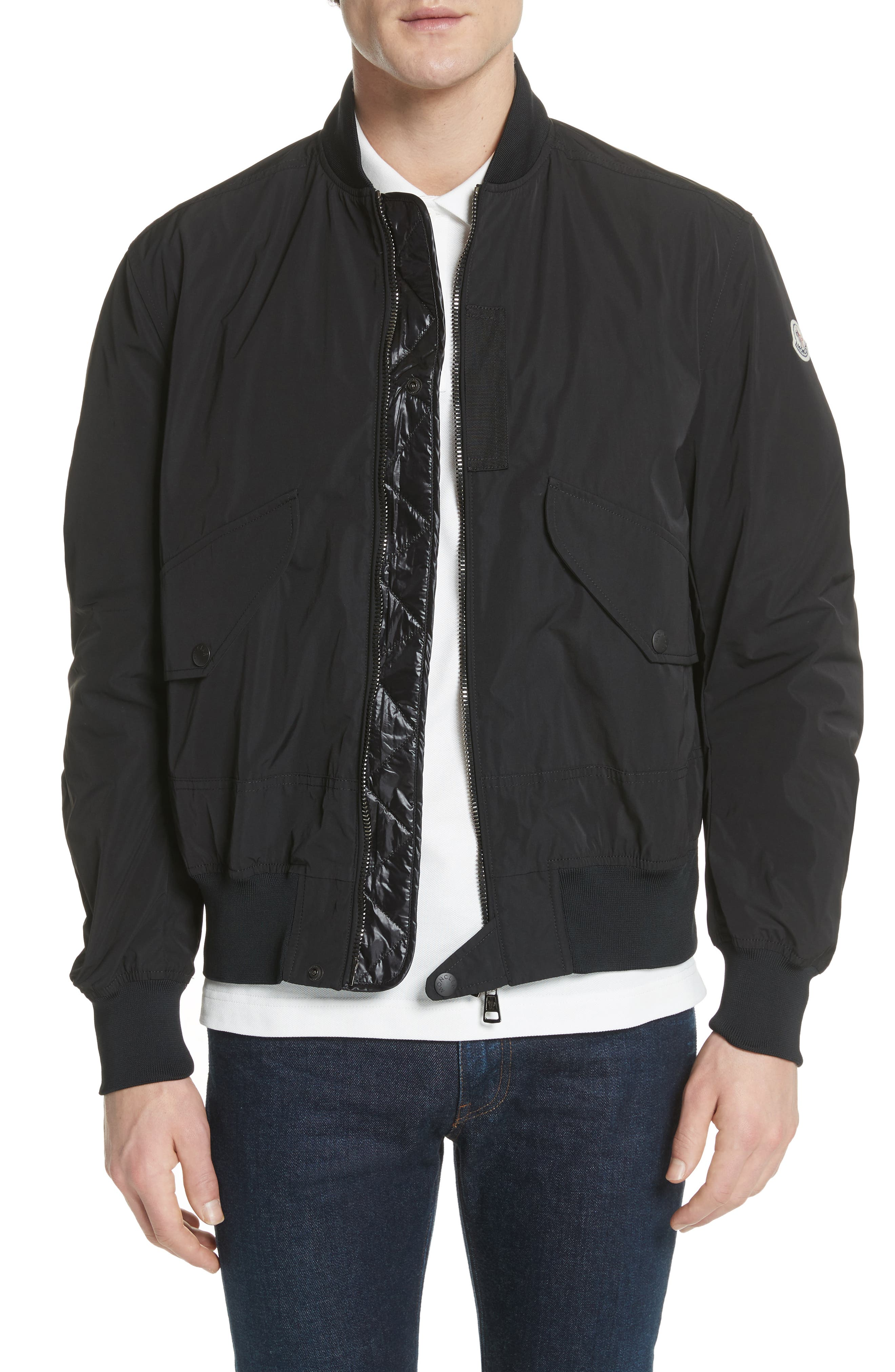 Artouste Bomber Jacket,                             Alternate thumbnail 4, color,                             001