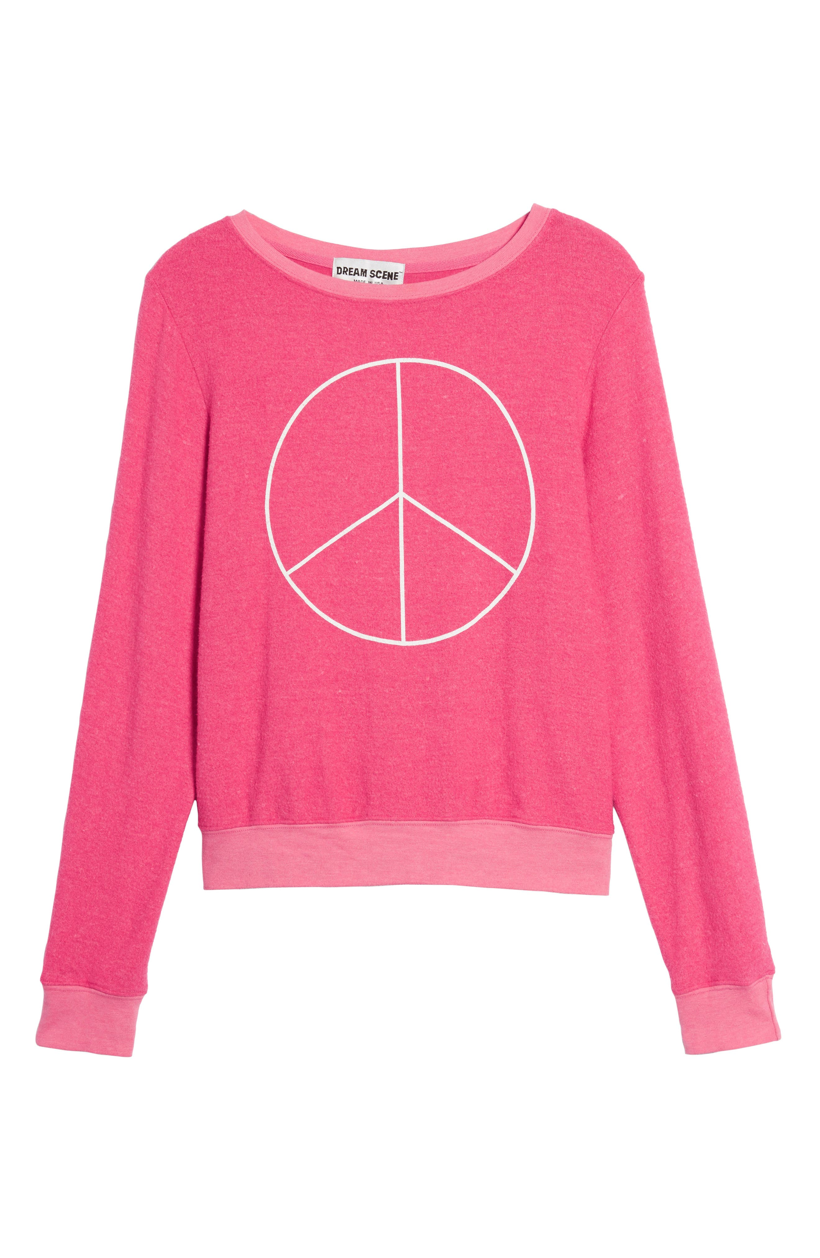 Peace Sweatshirt,                             Alternate thumbnail 6, color,                             670