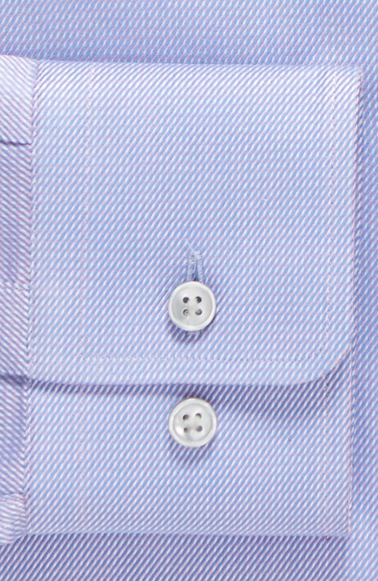Sharp Fit Solid Dress Shirt,                             Alternate thumbnail 6, color,