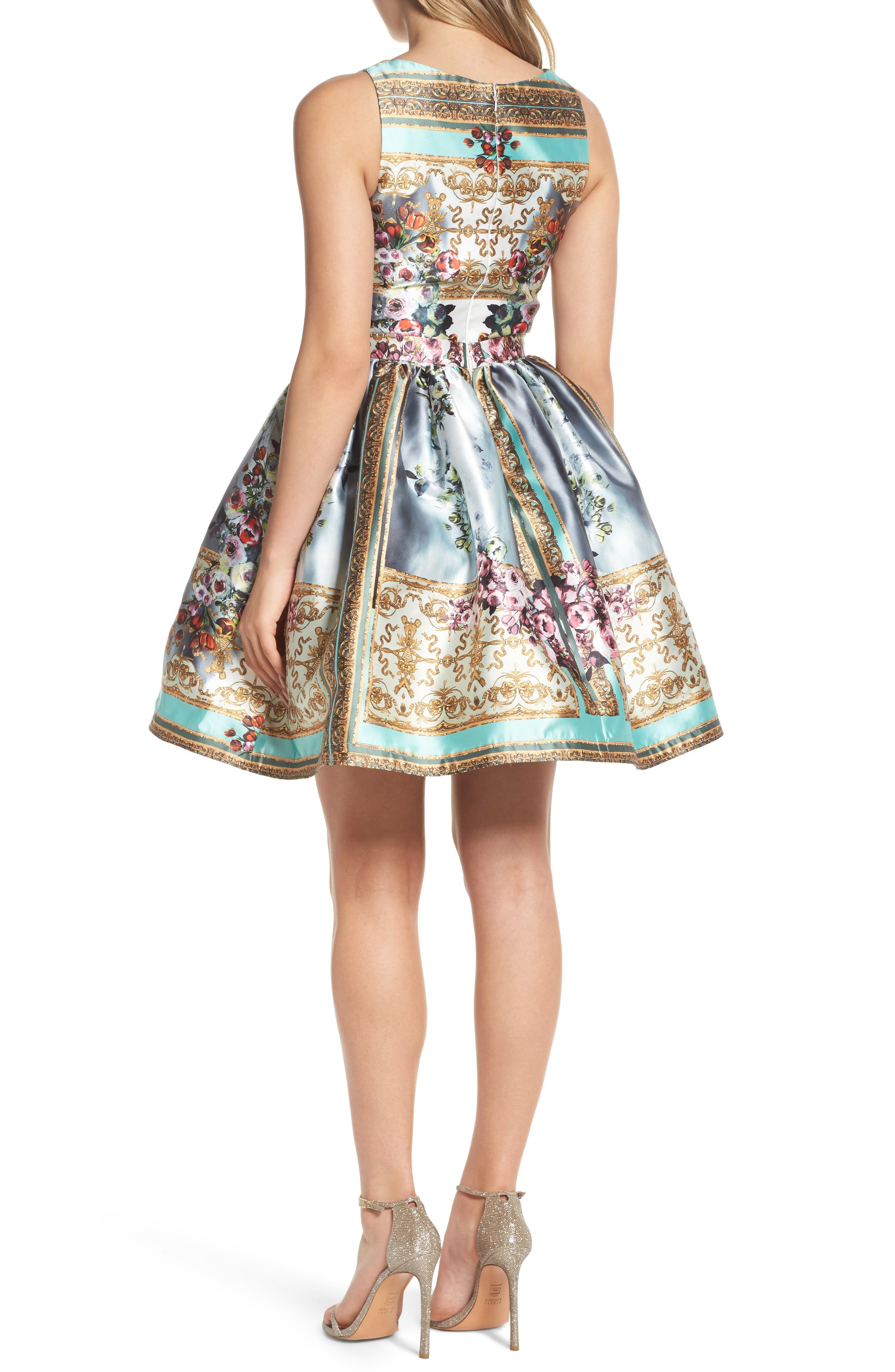 Mirror Fit & Flare Dress,                             Alternate thumbnail 2, color,