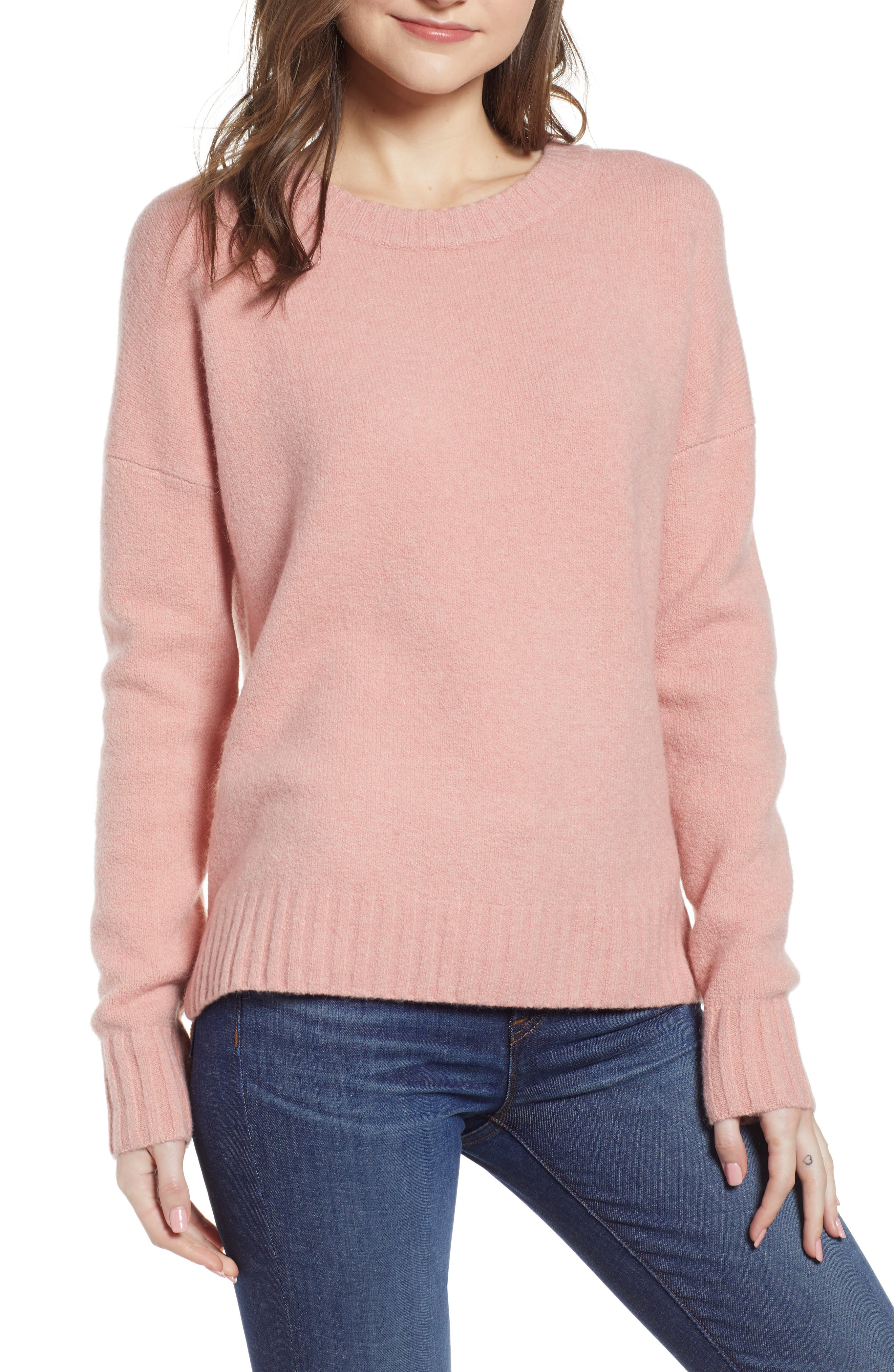 J.crew Supersoft Oversize Crewneck Sweater, Pink
