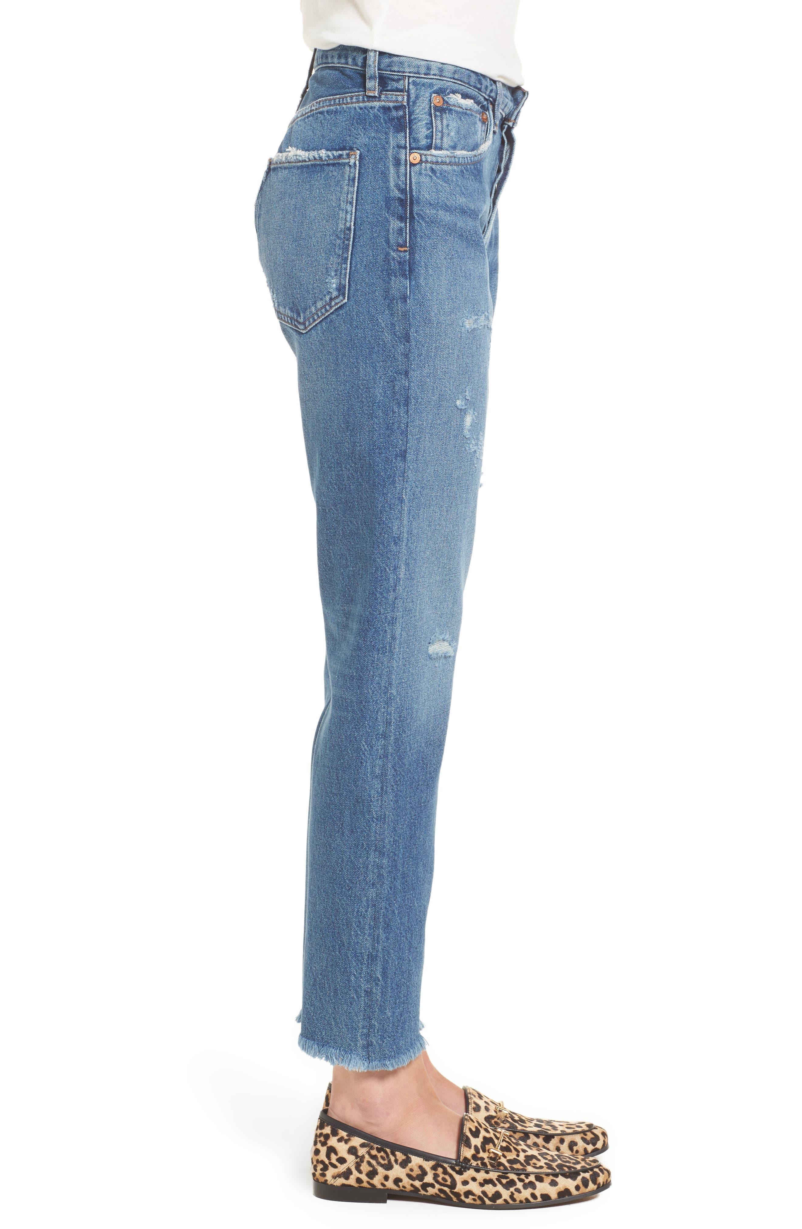 Jamie High Rise Classic Jeans,                             Alternate thumbnail 3, color,                             425