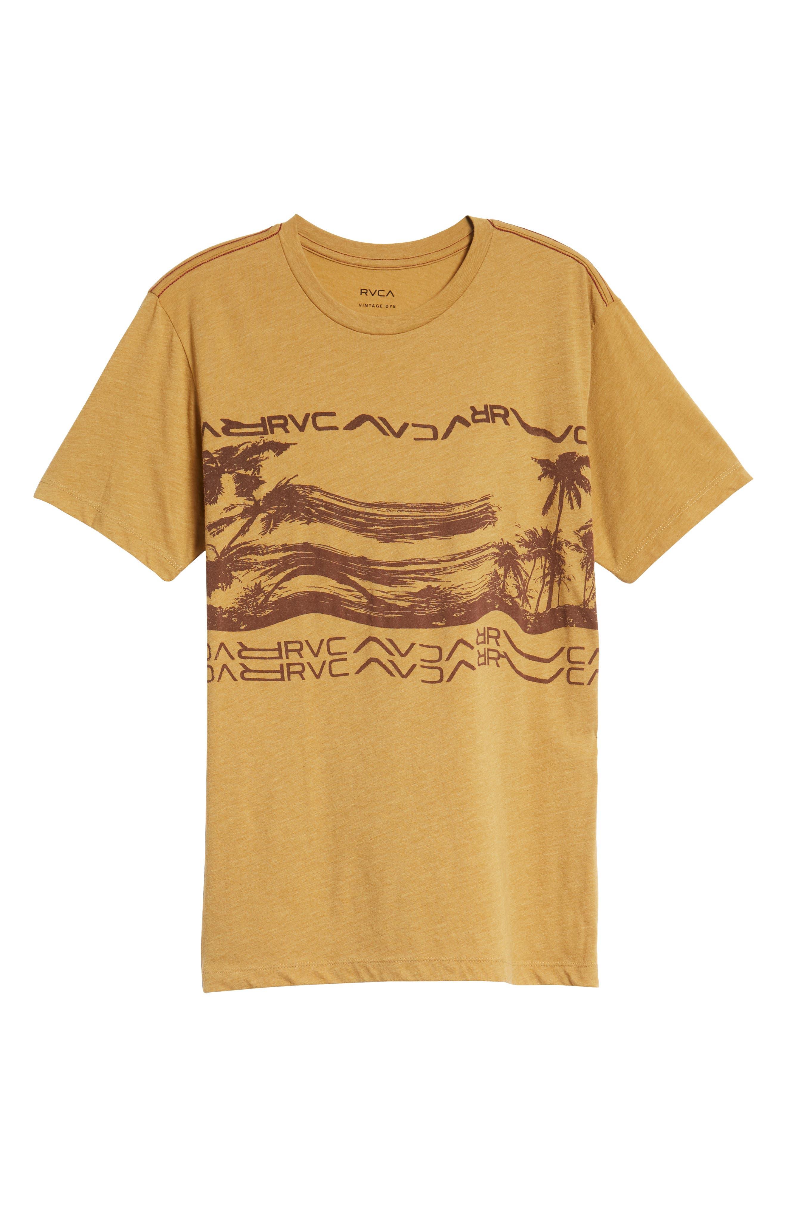 Warped Palm Graphic T-Shirt,                             Alternate thumbnail 6, color,                             APPLE CINNAMON