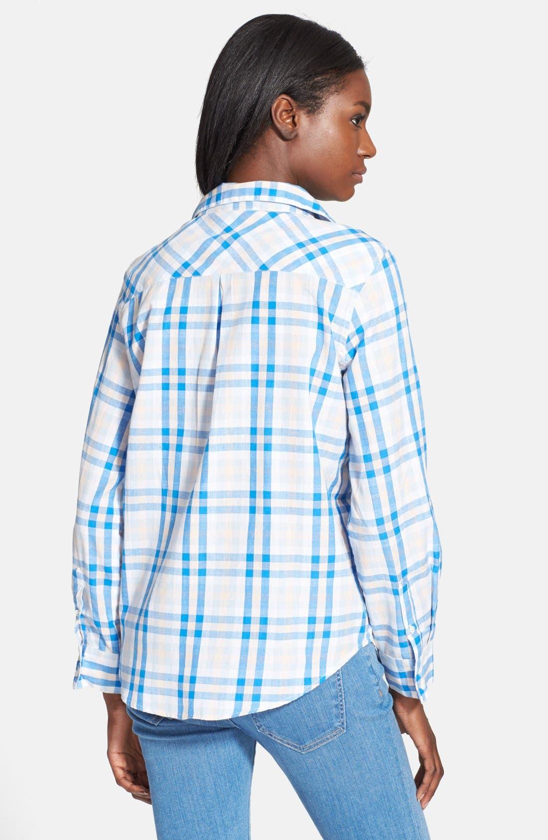'Cartel' Check Cotton Shirt,                             Alternate thumbnail 6, color,
