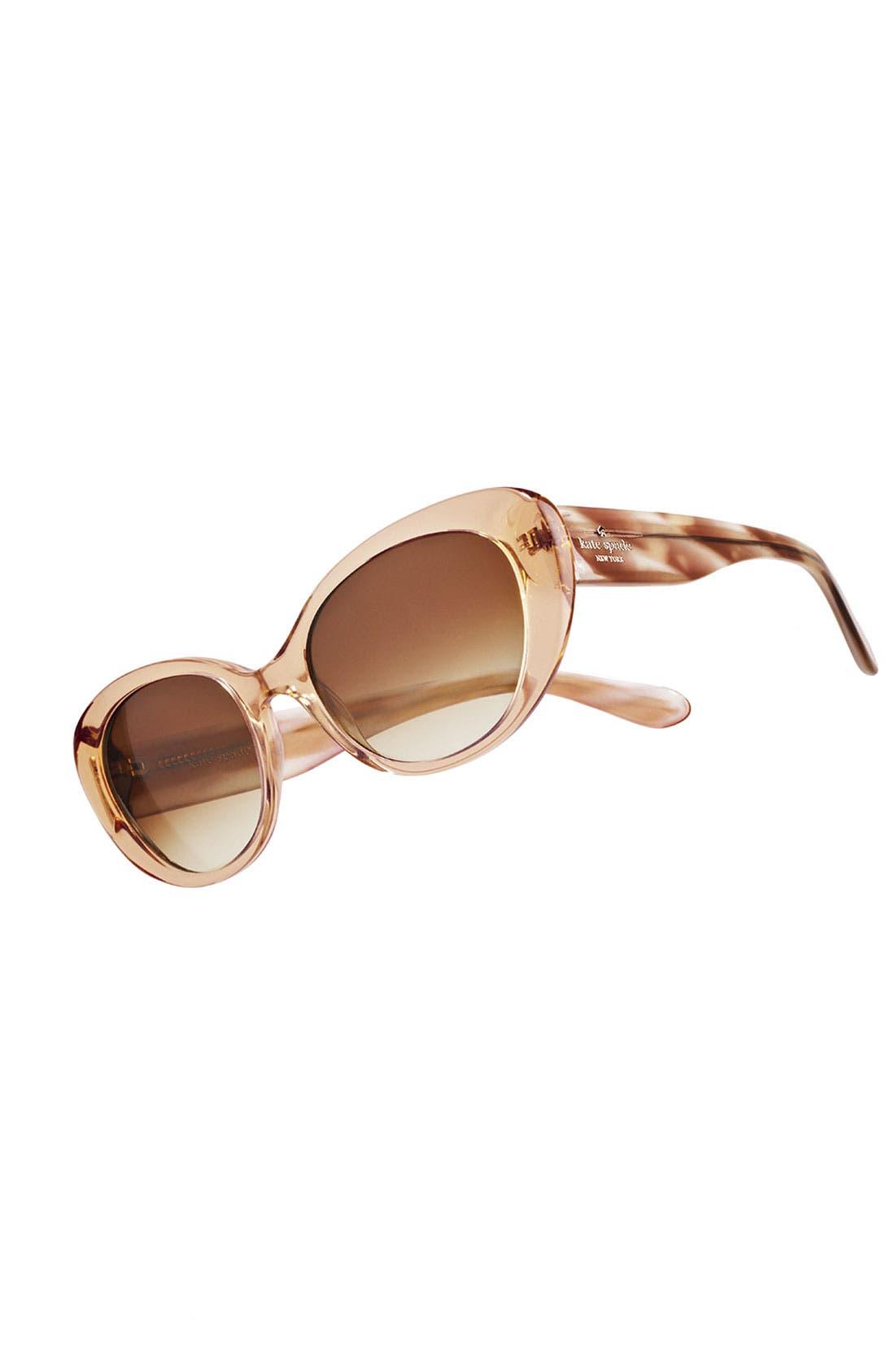 'franca' 54mm cat's eye sunglasses,                             Alternate thumbnail 3, color,                             001
