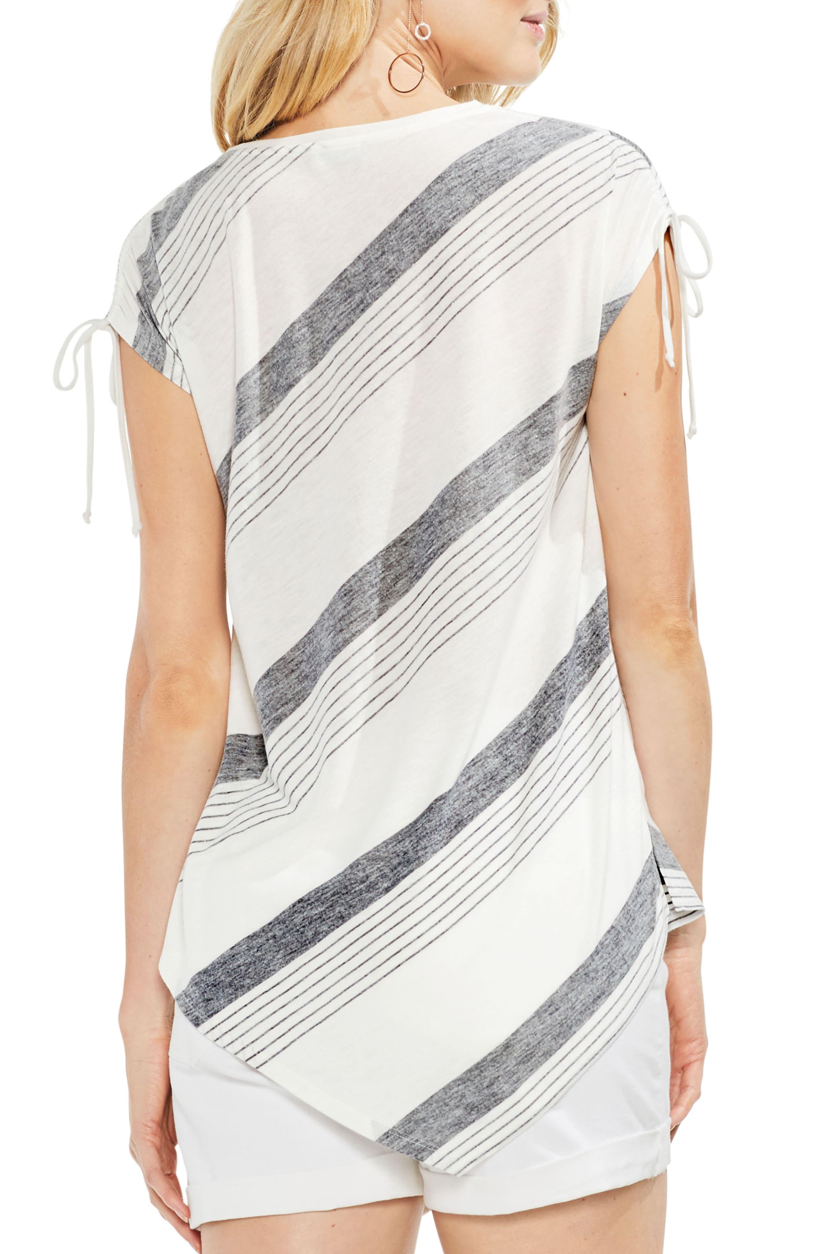 Stripe Asymmetrical Top,                             Alternate thumbnail 2, color,                             001