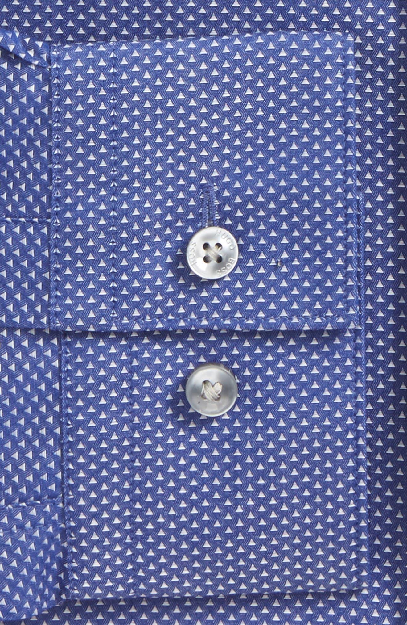 Isko Slim Fit Geometric Dress Shirt,                             Alternate thumbnail 2, color,