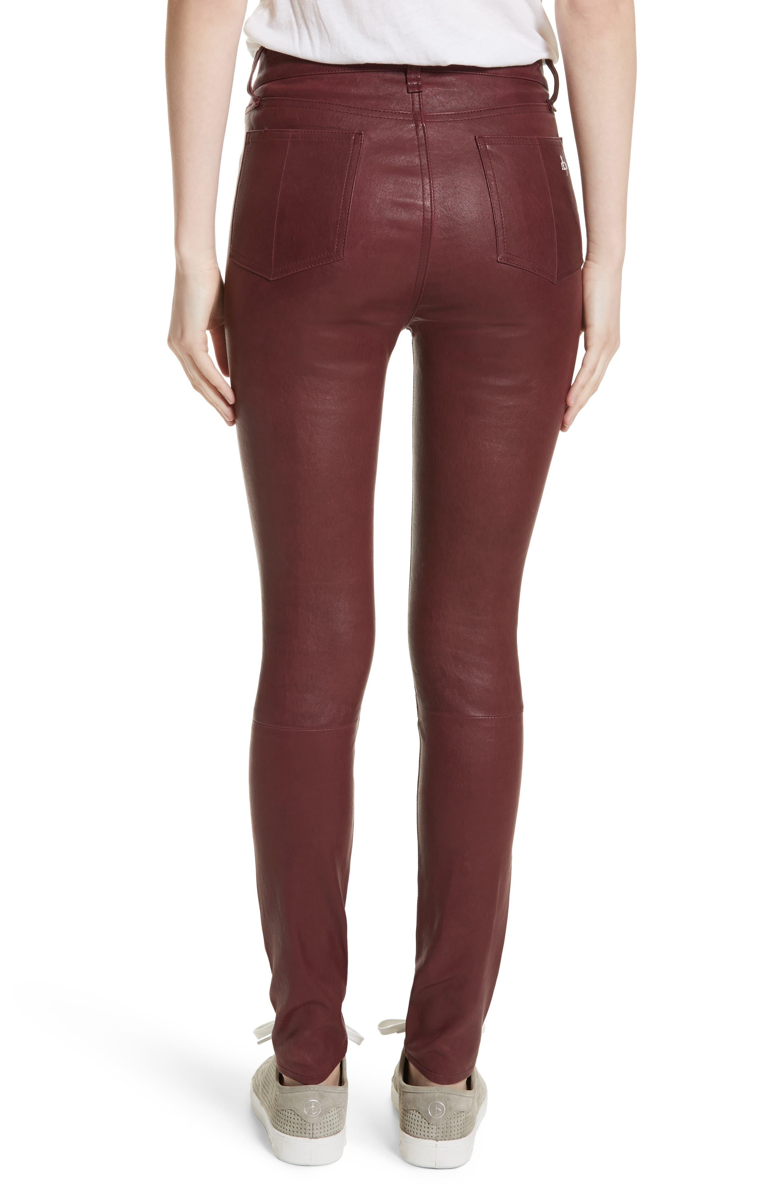 Lambskin Leather Pants,                             Alternate thumbnail 8, color,
