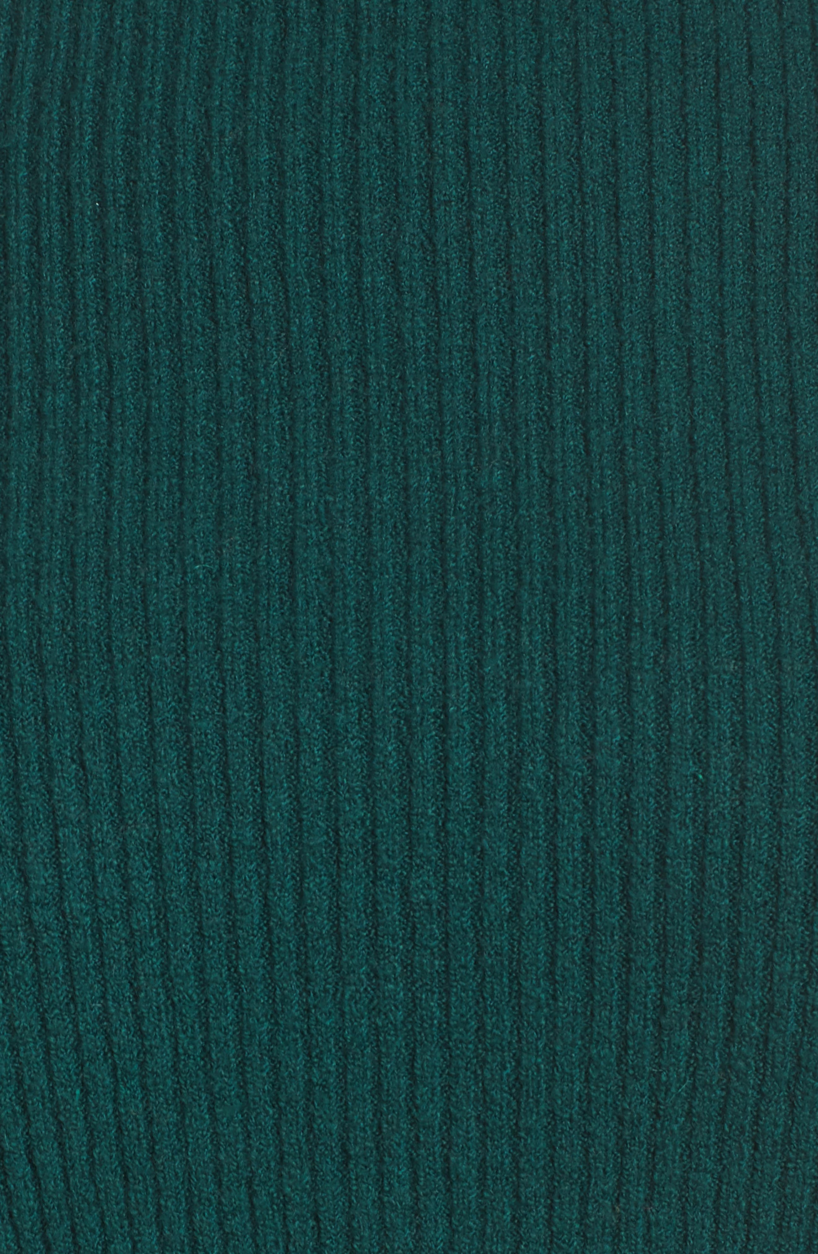 Ribbed Funnel Neck Sweater,                             Alternate thumbnail 5, color,                             GREEN BOTANICAL