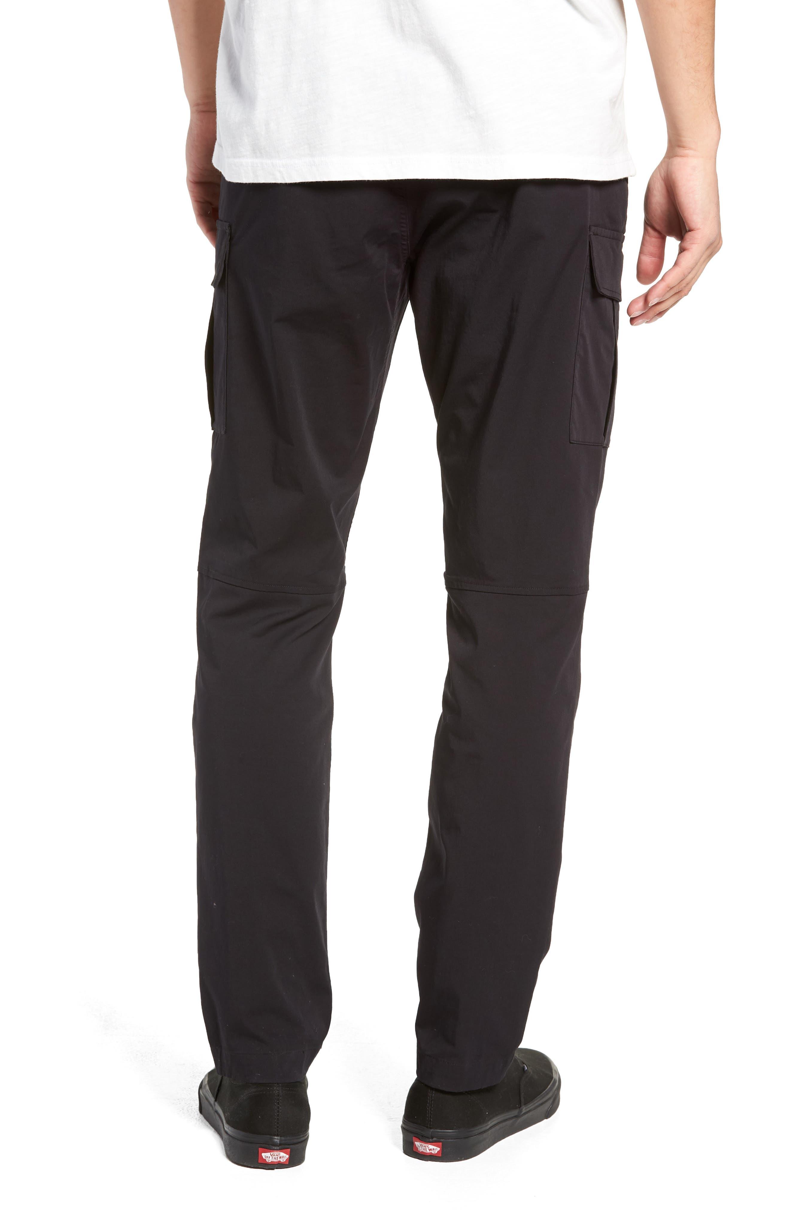 Cordura Slim Fit Cargo Pants,                             Alternate thumbnail 2, color,                             BLACK