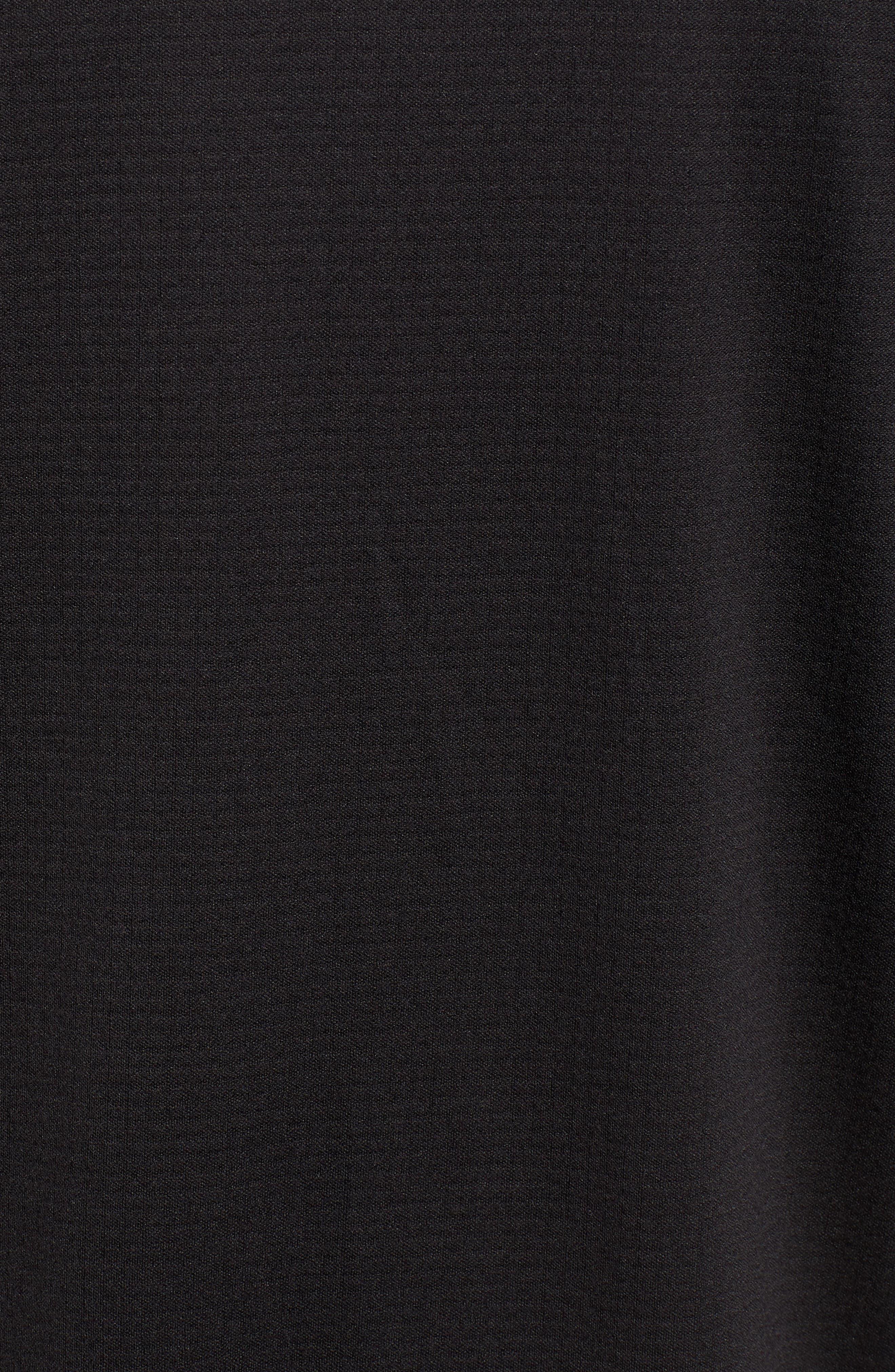 The New Nine Mile Half Zip Pullover,                             Alternate thumbnail 5, color,                             JET BLACK