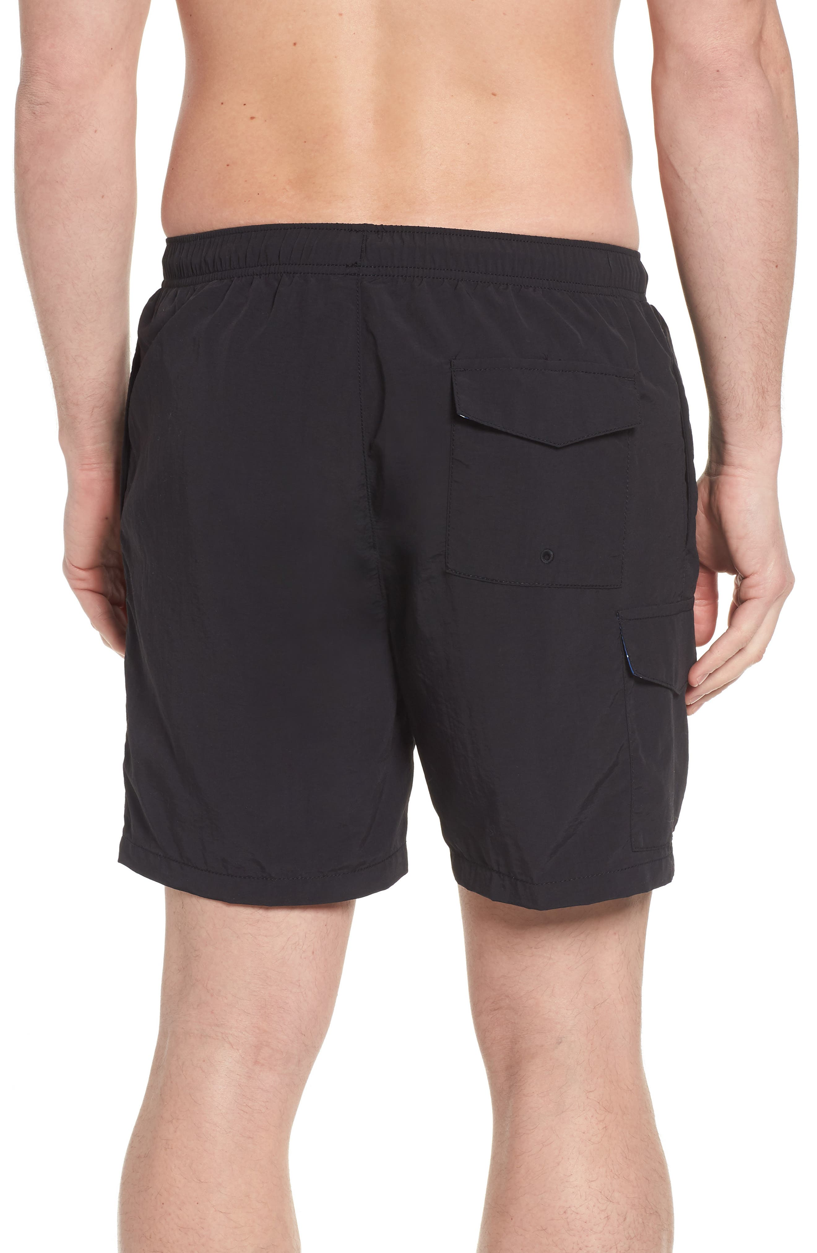 Naples Coast Swim Trunks,                             Alternate thumbnail 2, color,                             BLACK