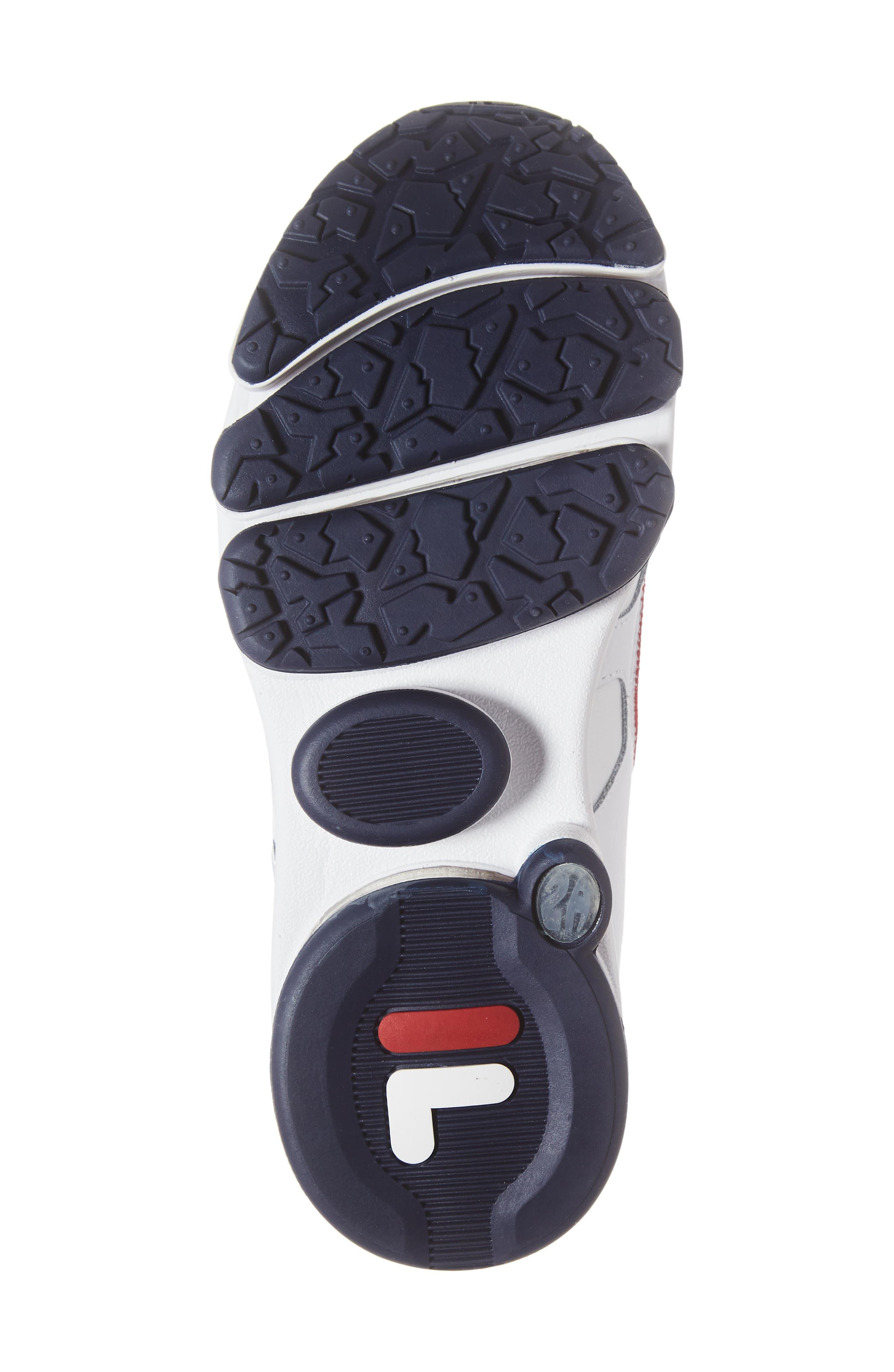 Silva Trainer Sneaker,                             Alternate thumbnail 6, color,                             WHITE/ NAVY/ RED