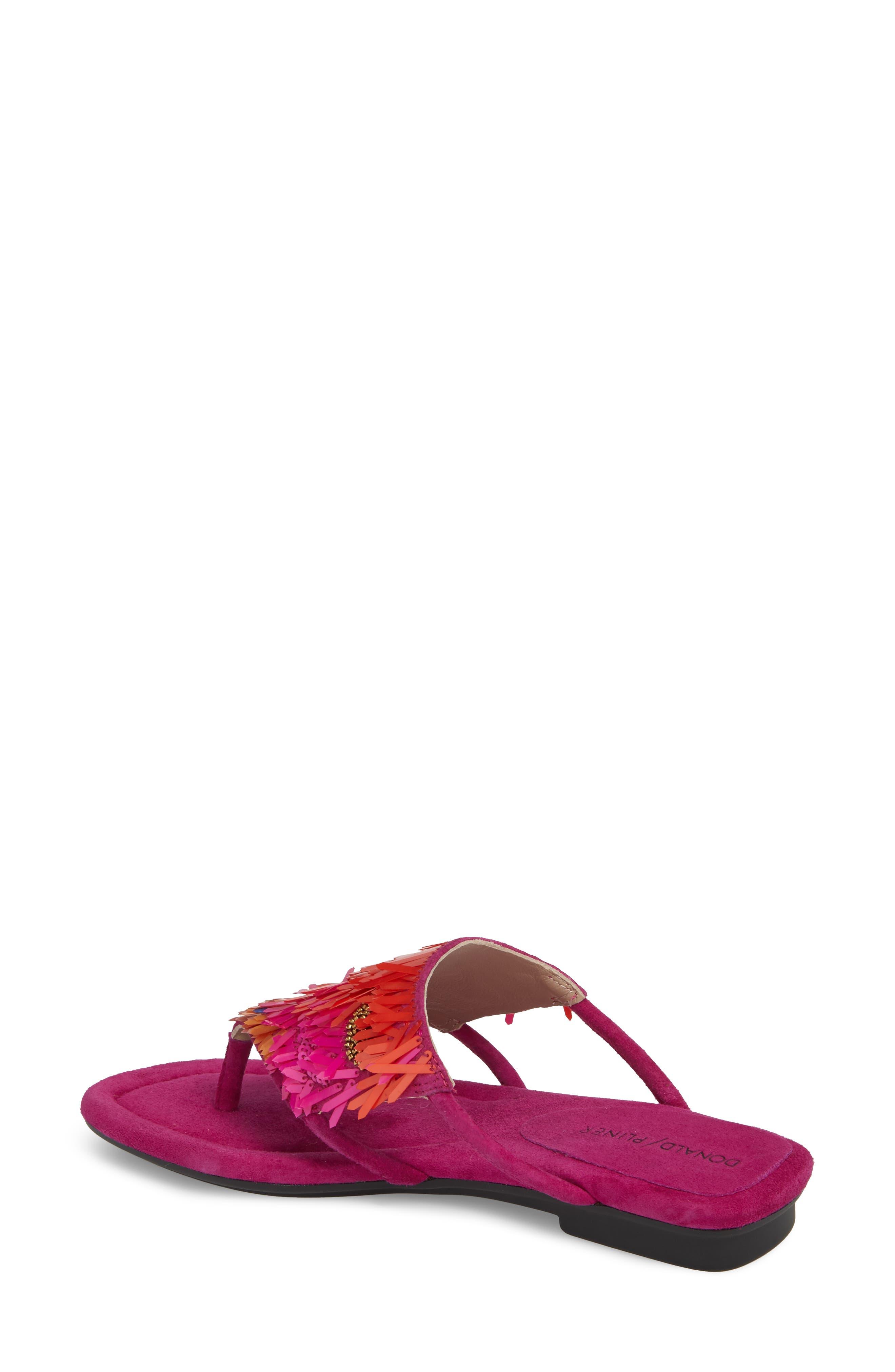 Kya Feather Sequin Sandal,                             Alternate thumbnail 4, color,