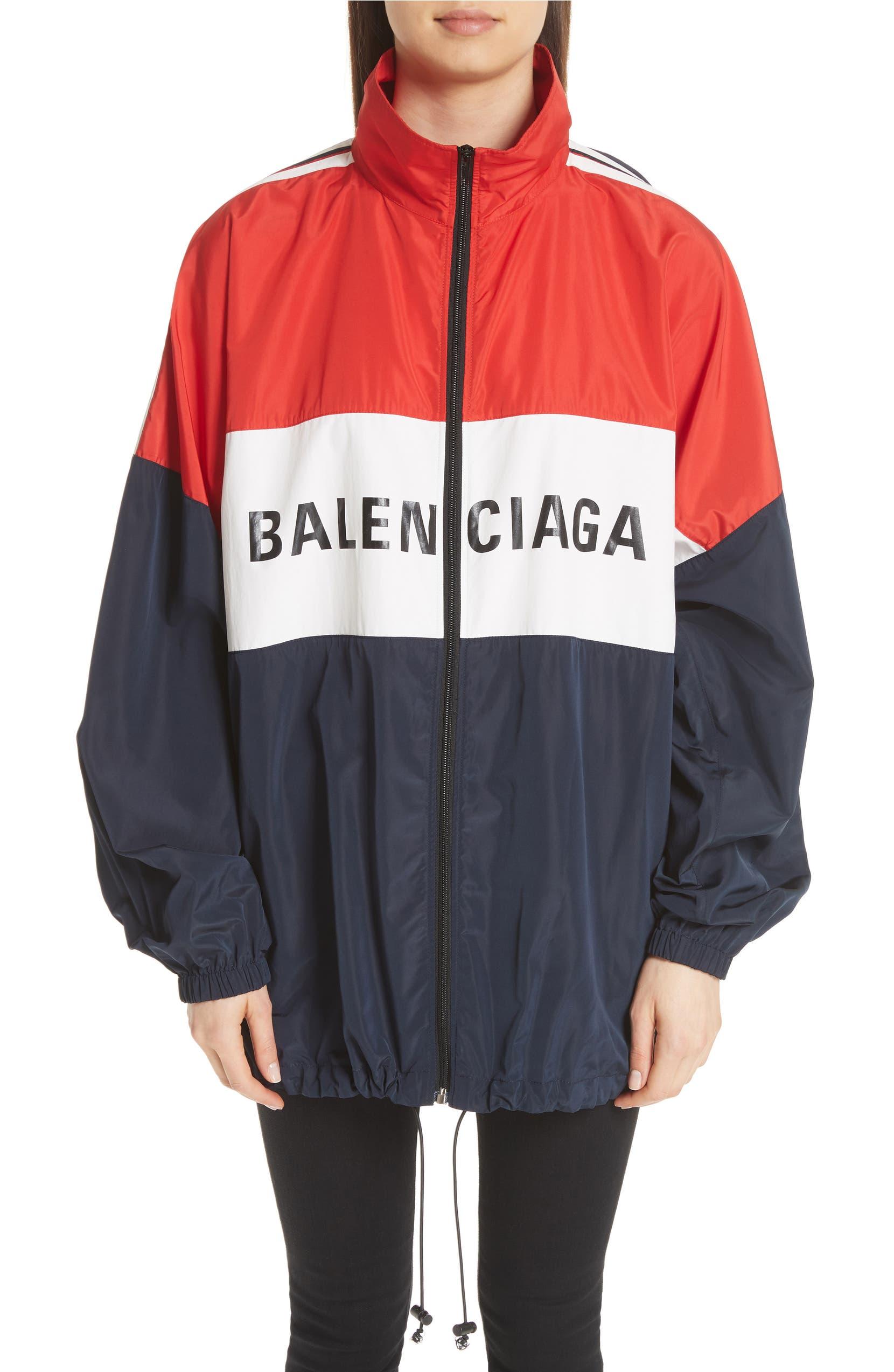 Balenciaga Logo Colorblock Windbreaker Jacket  0b60bbb62