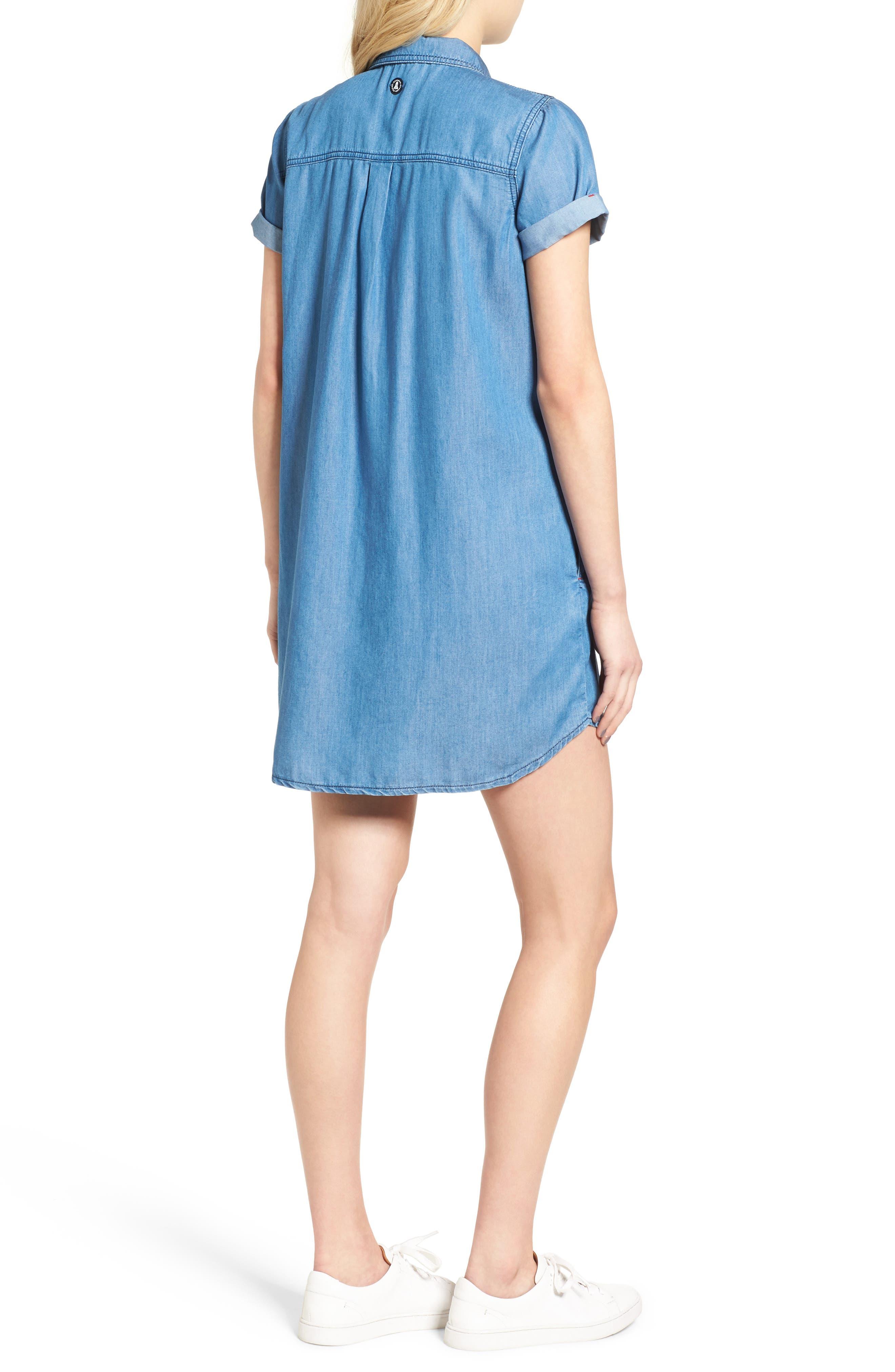 Fins Chambray Shirtdress,                             Alternate thumbnail 2, color,                             450