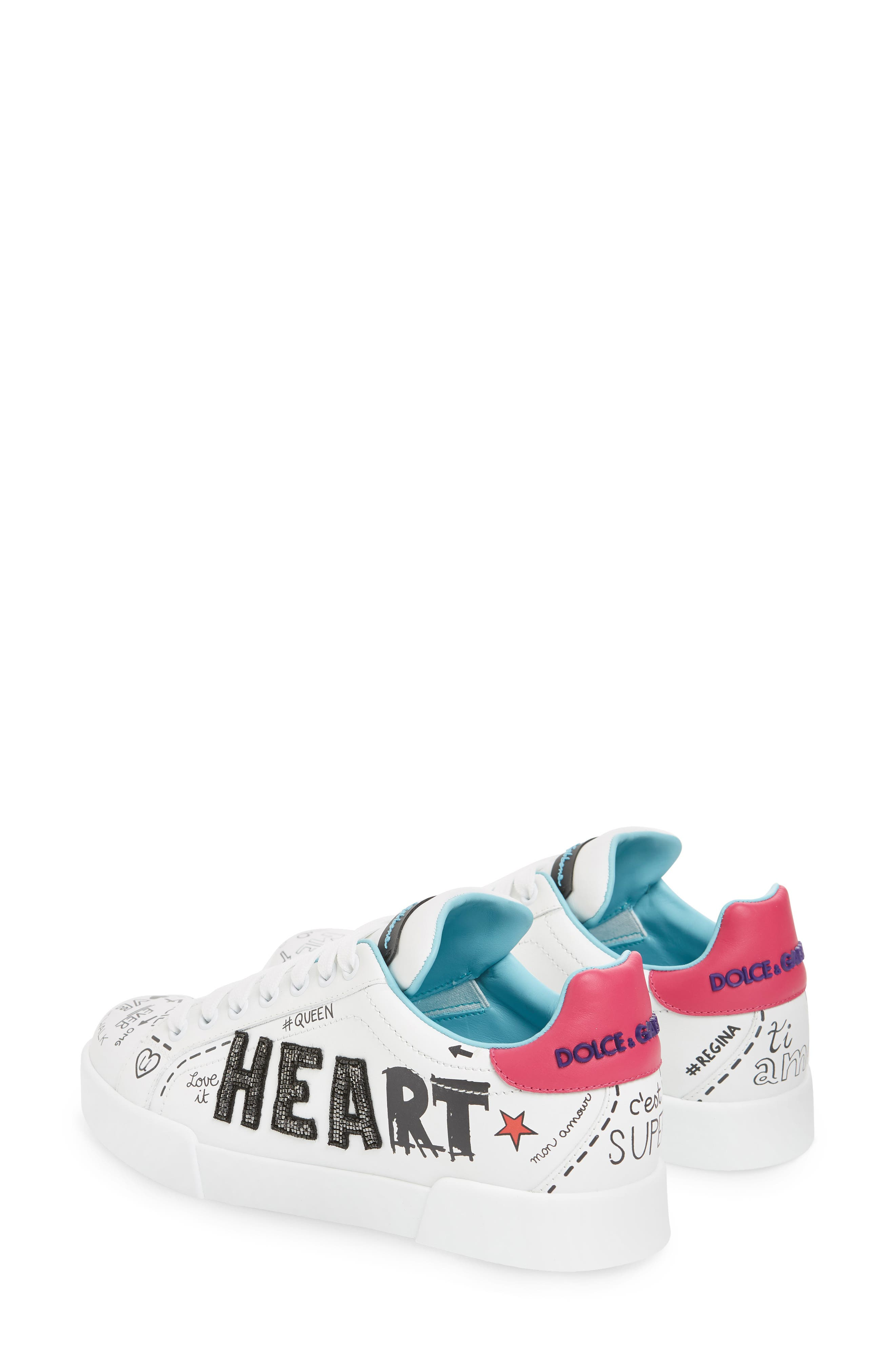 Love Lace-Up Sneaker,                             Alternate thumbnail 3, color,                             WHITE