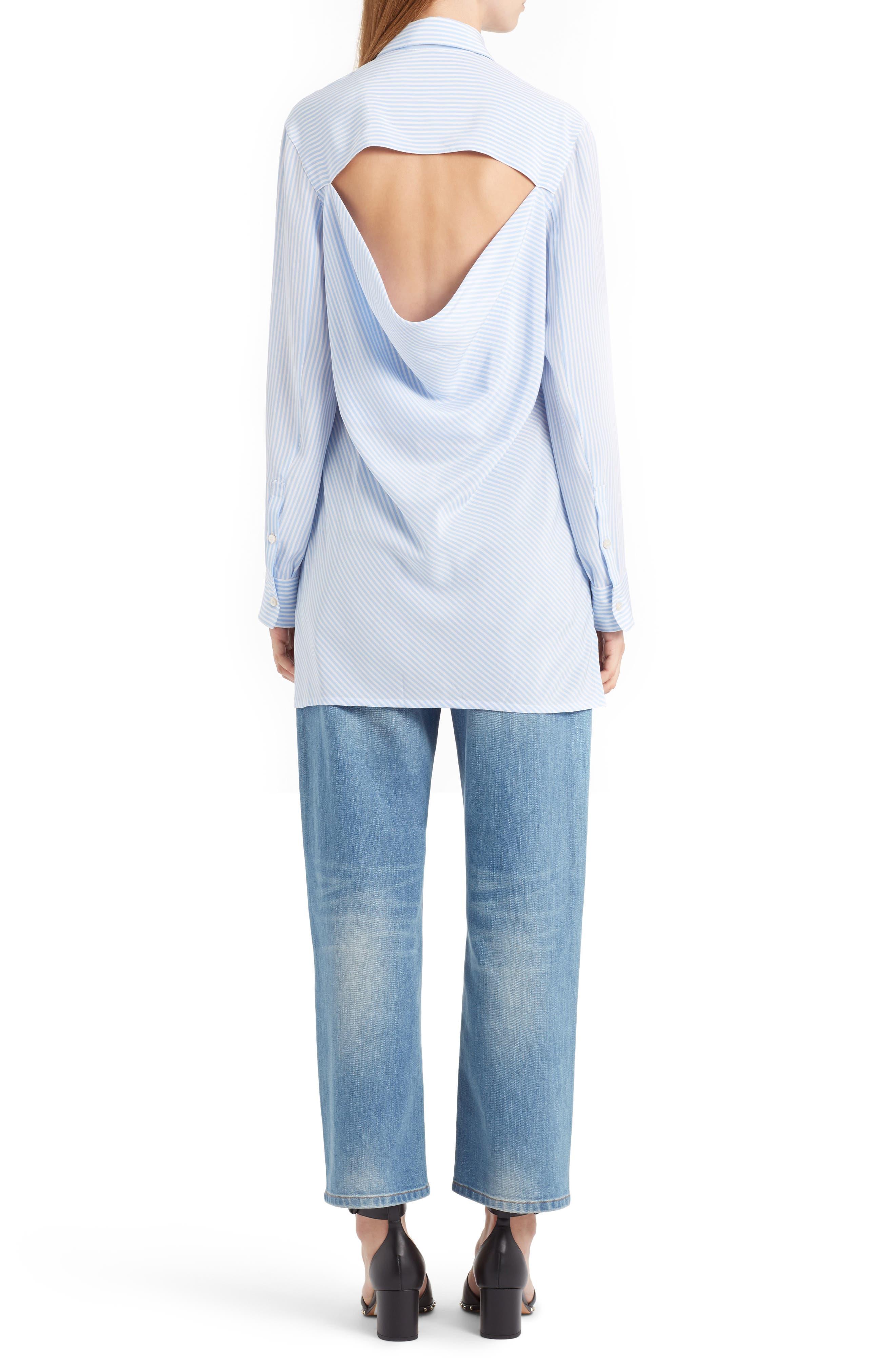 Rockstud Boyfriend Jeans,                             Alternate thumbnail 3, color,                             BLUE
