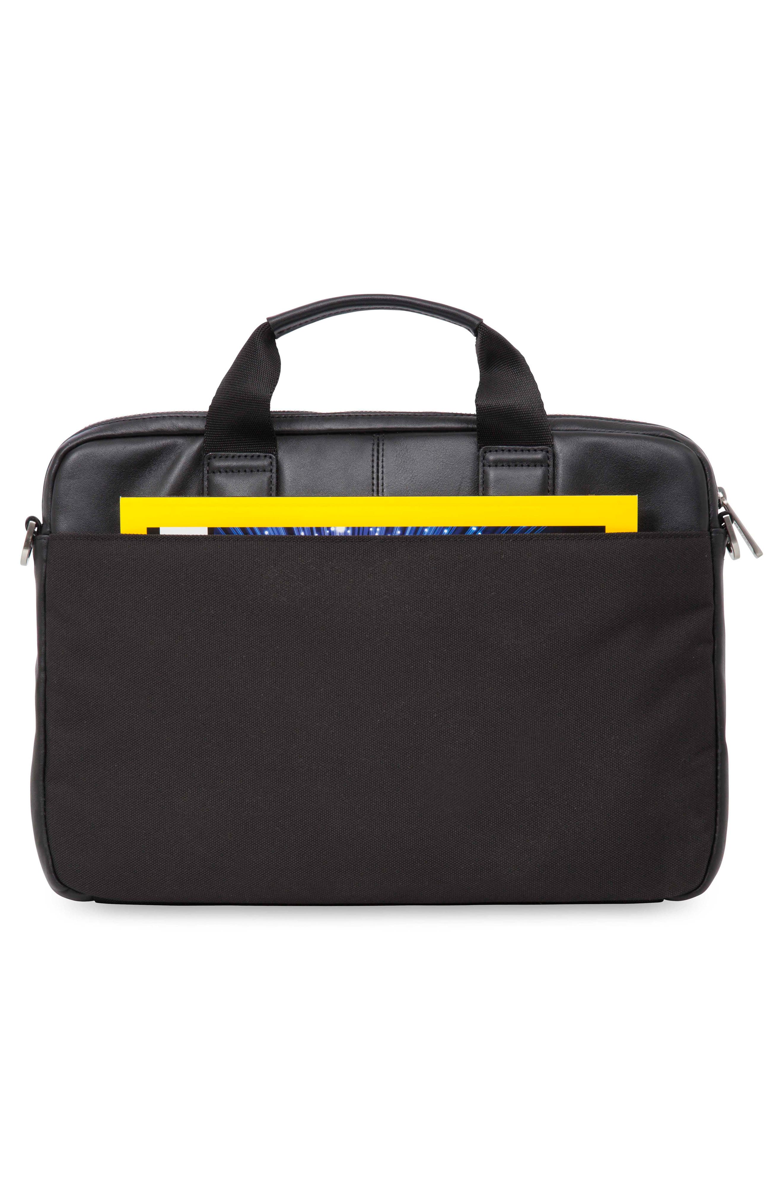 Brompton Stanford RFID Leather Briefcase,                             Alternate thumbnail 2, color,                             001